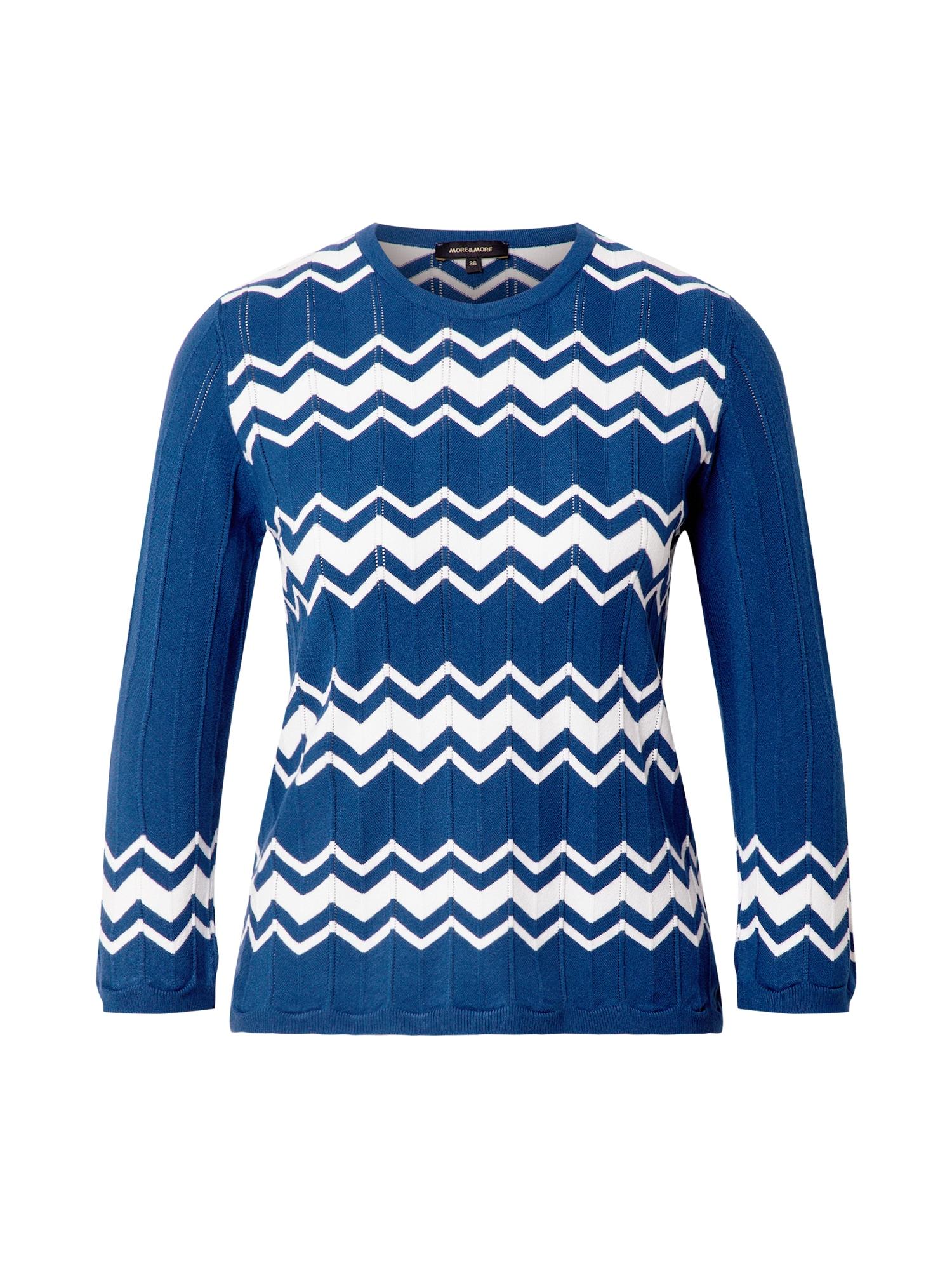 MORE & MORE Megztinis mėlyna / balta