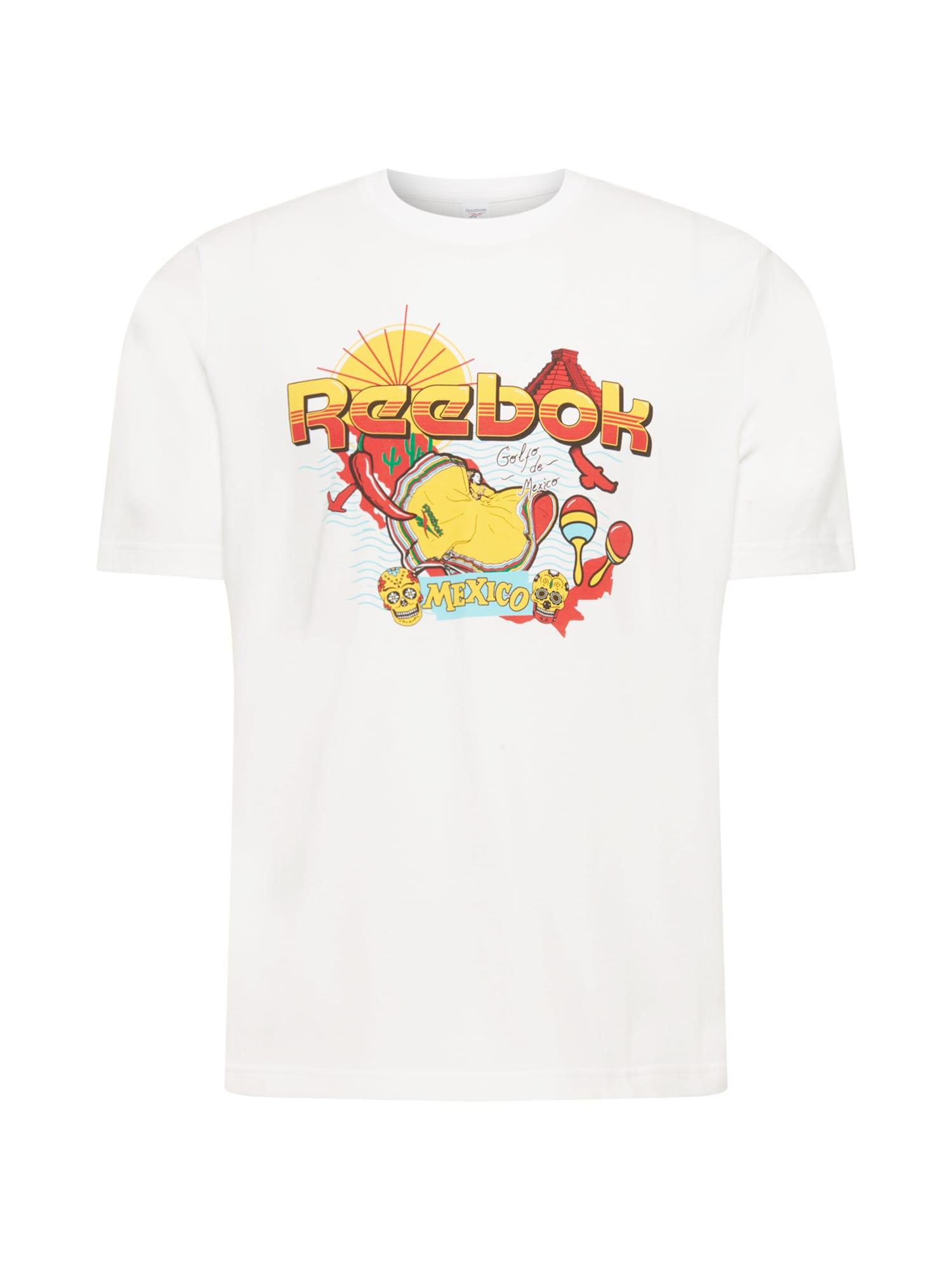 Reebok Classics Marškinėliai balta / geltona / raudona