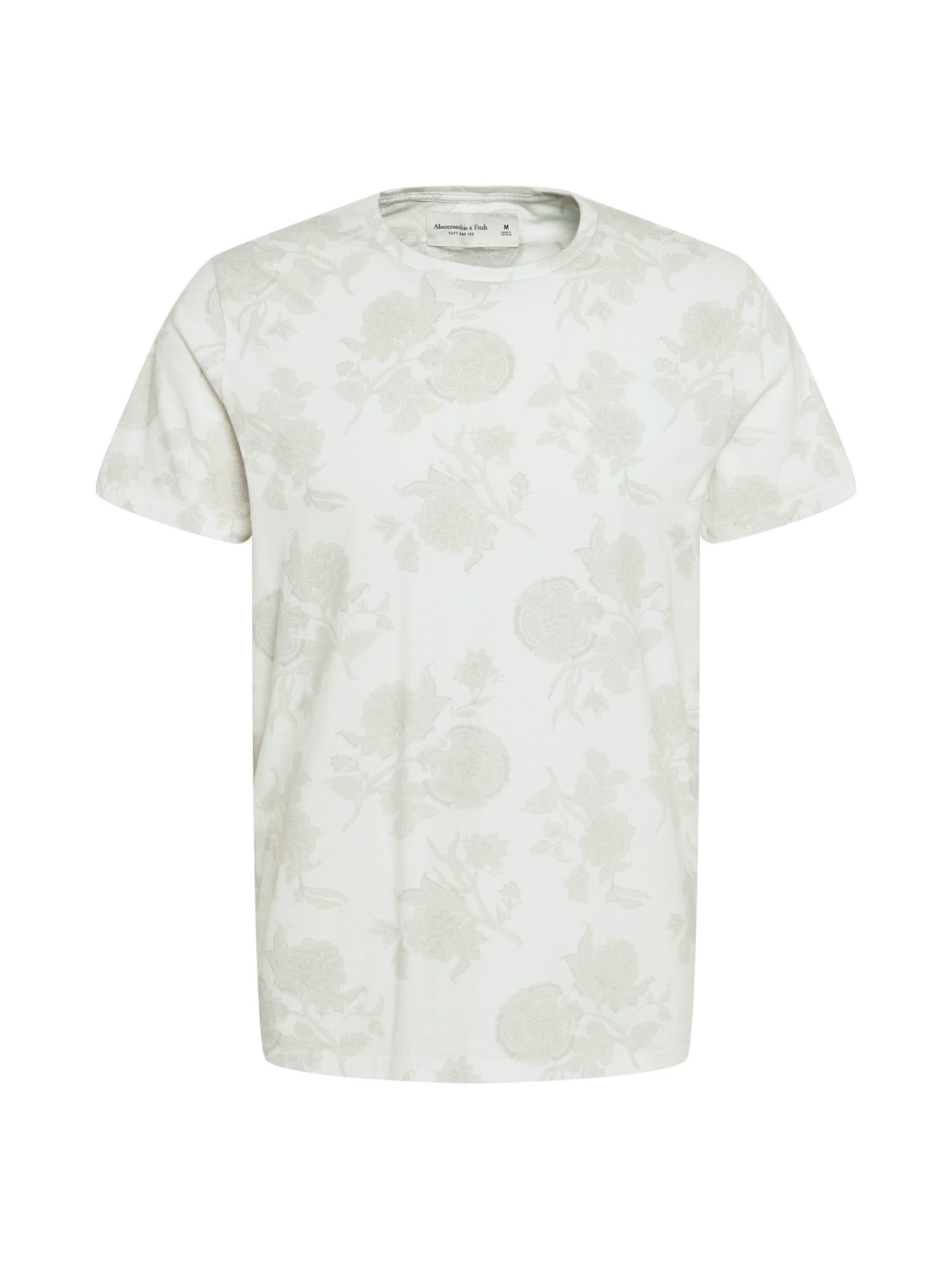 Abercrombie & Fitch Marškinėliai balta / pilka