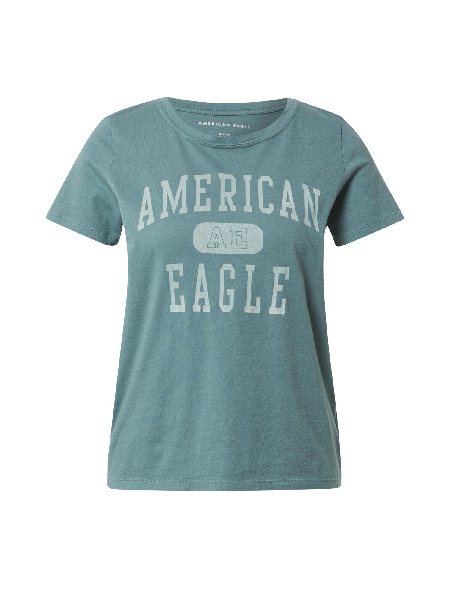 American Eagle Marškinėliai nefrito spalva / mėtų spalva