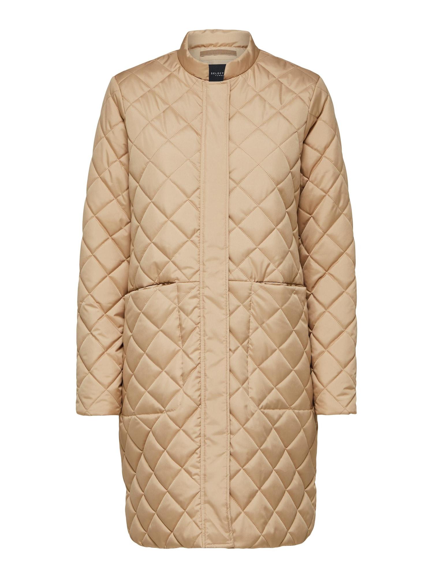 SELECTED FEMME Demisezoninis paltas šviesiai ruda