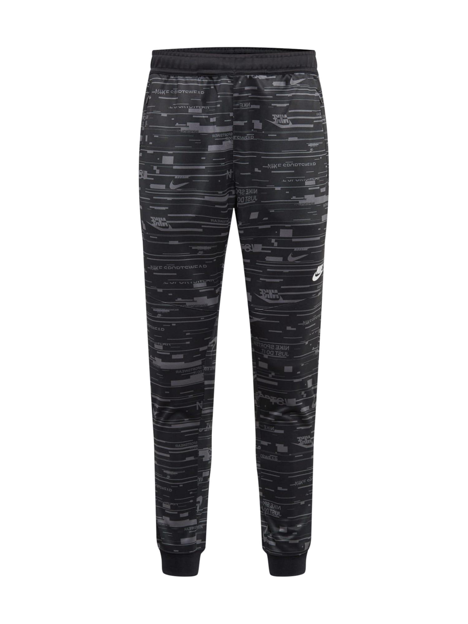 Nike Sportswear Kalhoty  tmavě šedá / černá