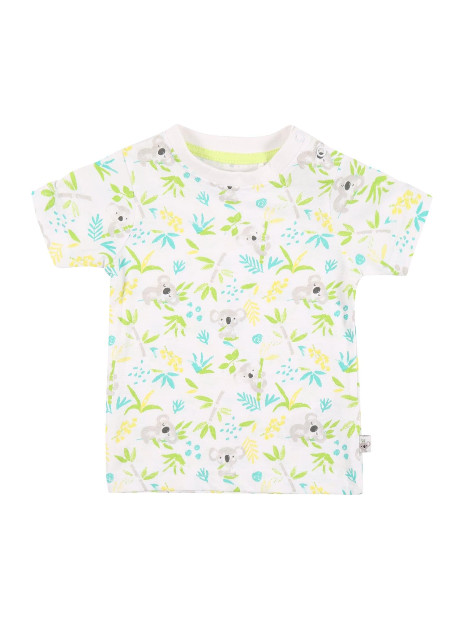 BLUE SEVEN Marškinėliai balta / obuolių spalva / šviesiai pilka / tamsiai pilka / šviesiai geltona