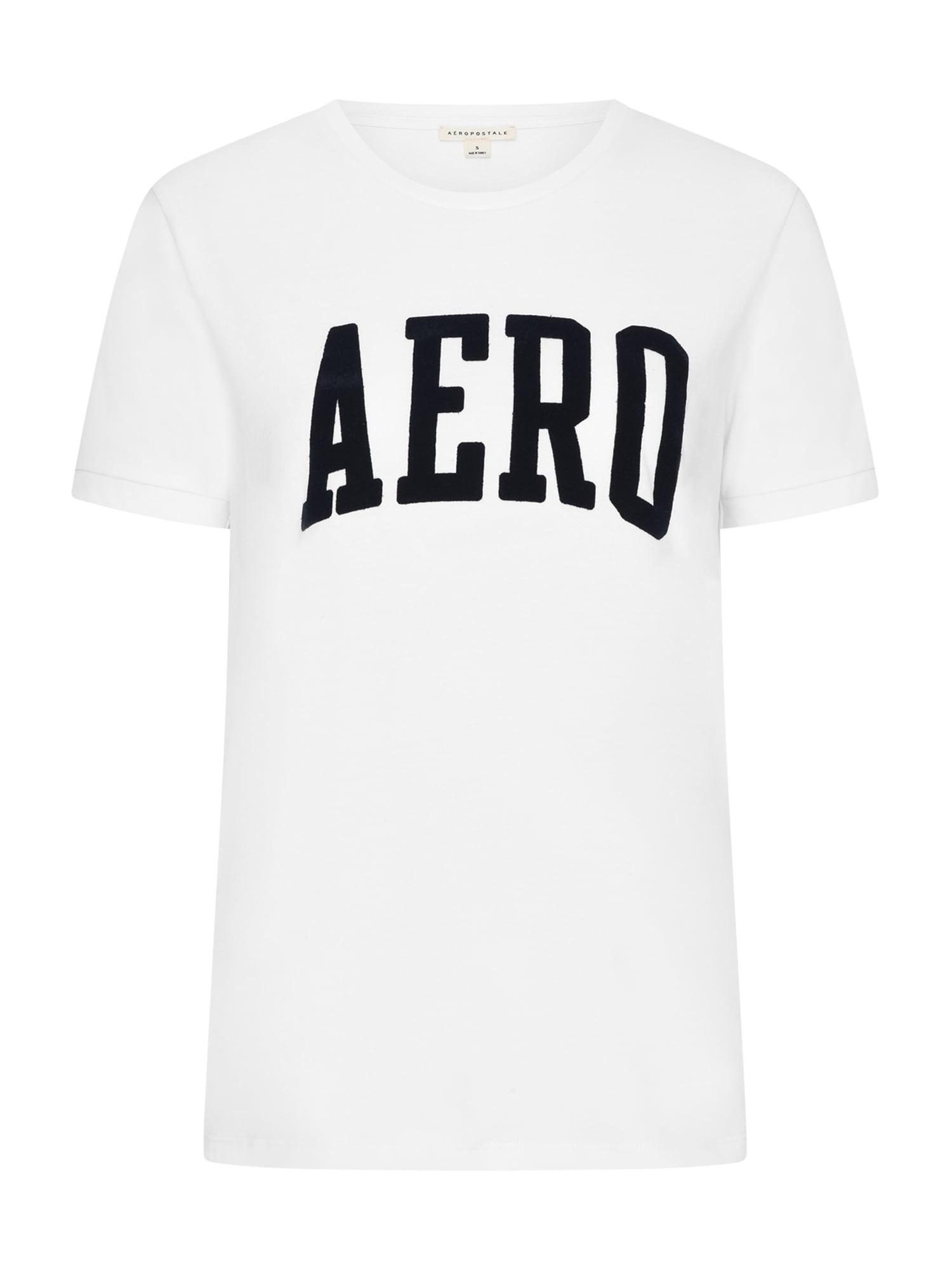 AÈROPOSTALE Marškinėliai balta / juoda