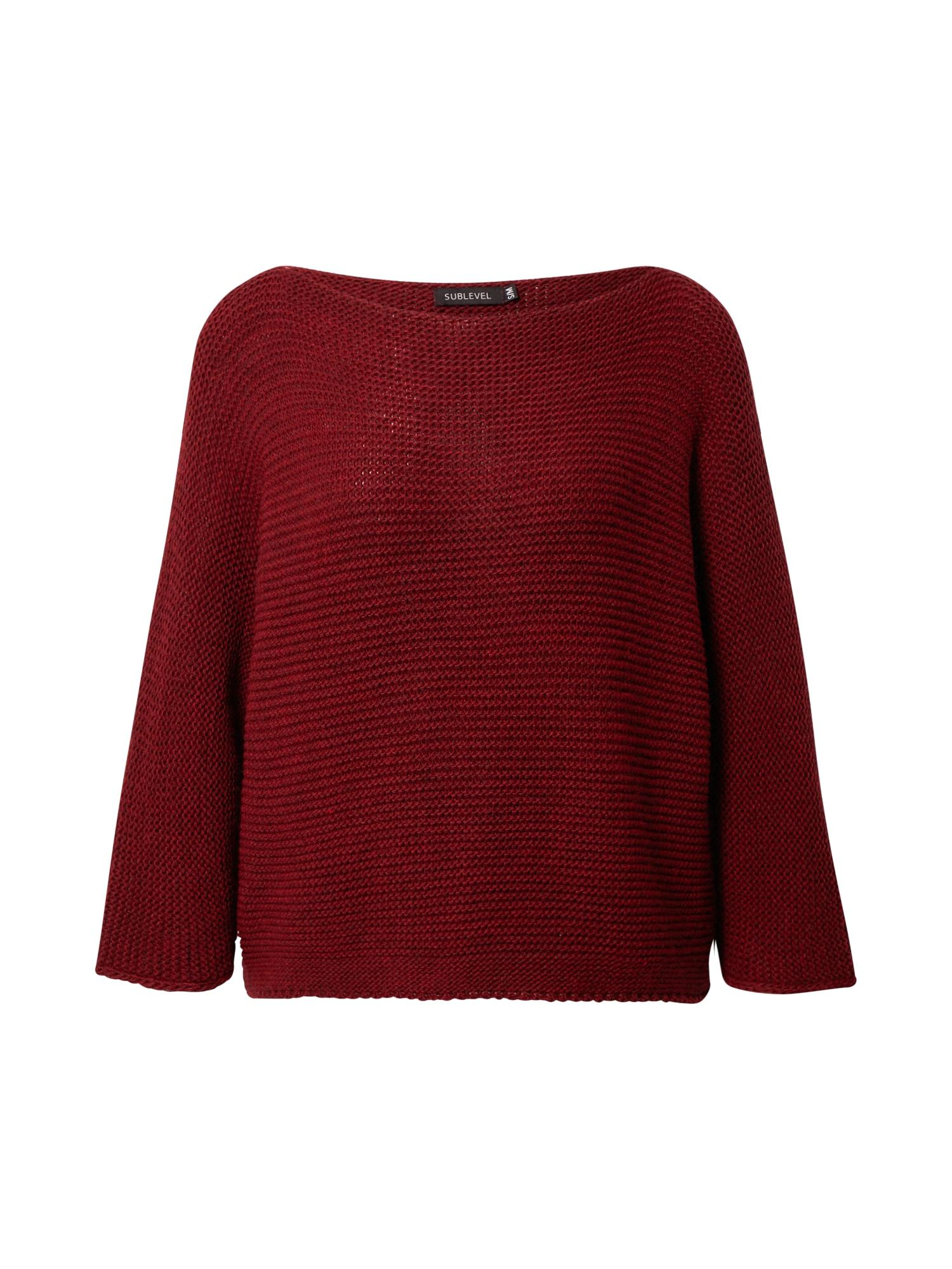 Sublevel Megztinis tamsiai raudona