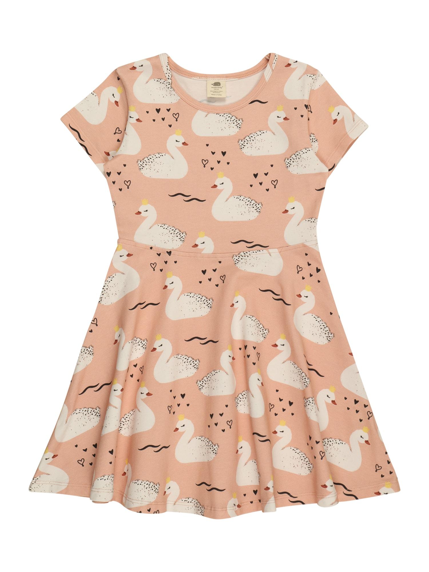 Walkiddy Suknelė ryškiai rožinė spalva / balta / juoda / geltona