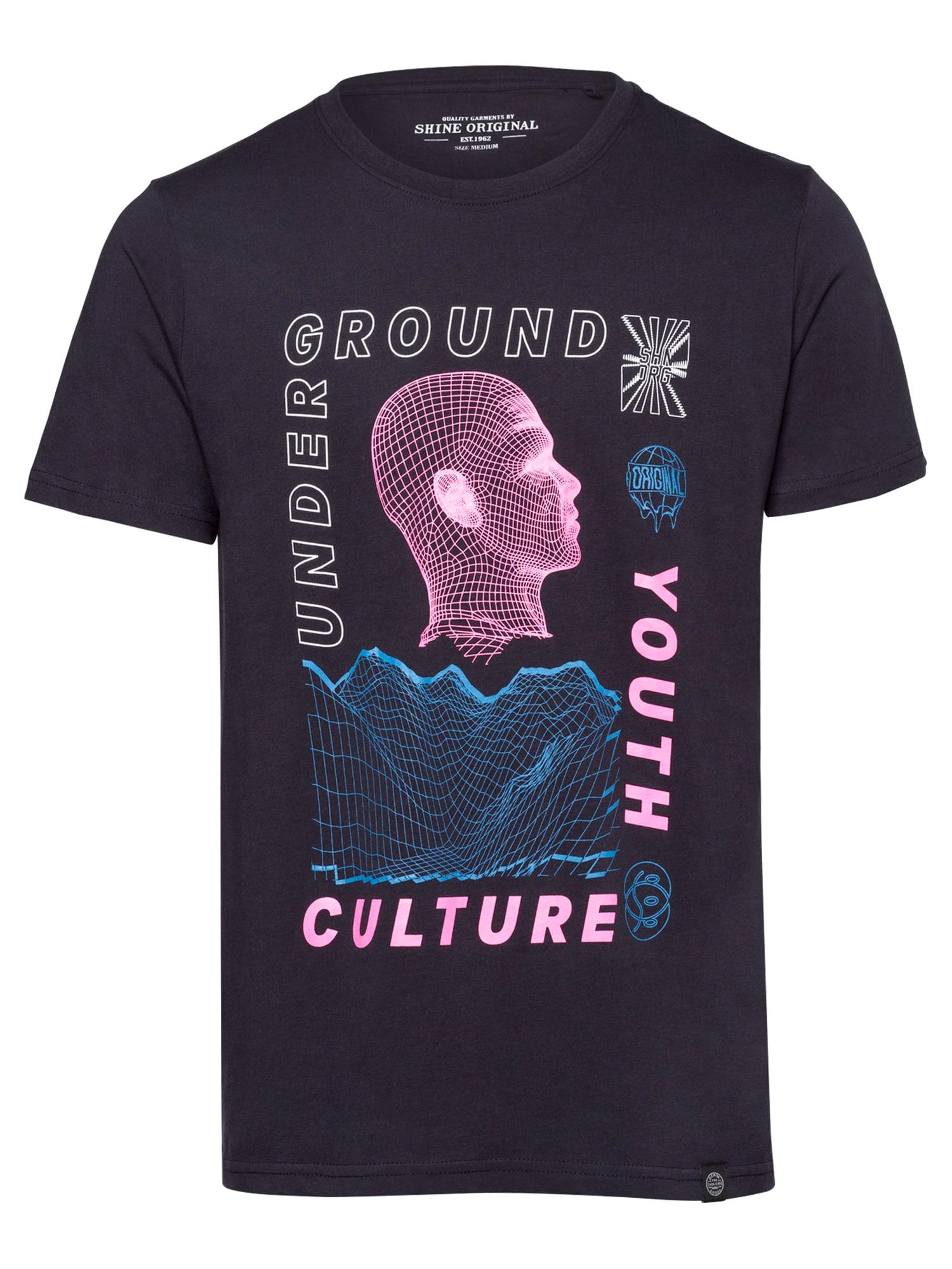 SHINE ORIGINAL Marškinėliai tamsiai mėlyna / rožinė / šviesiai mėlyna / balta