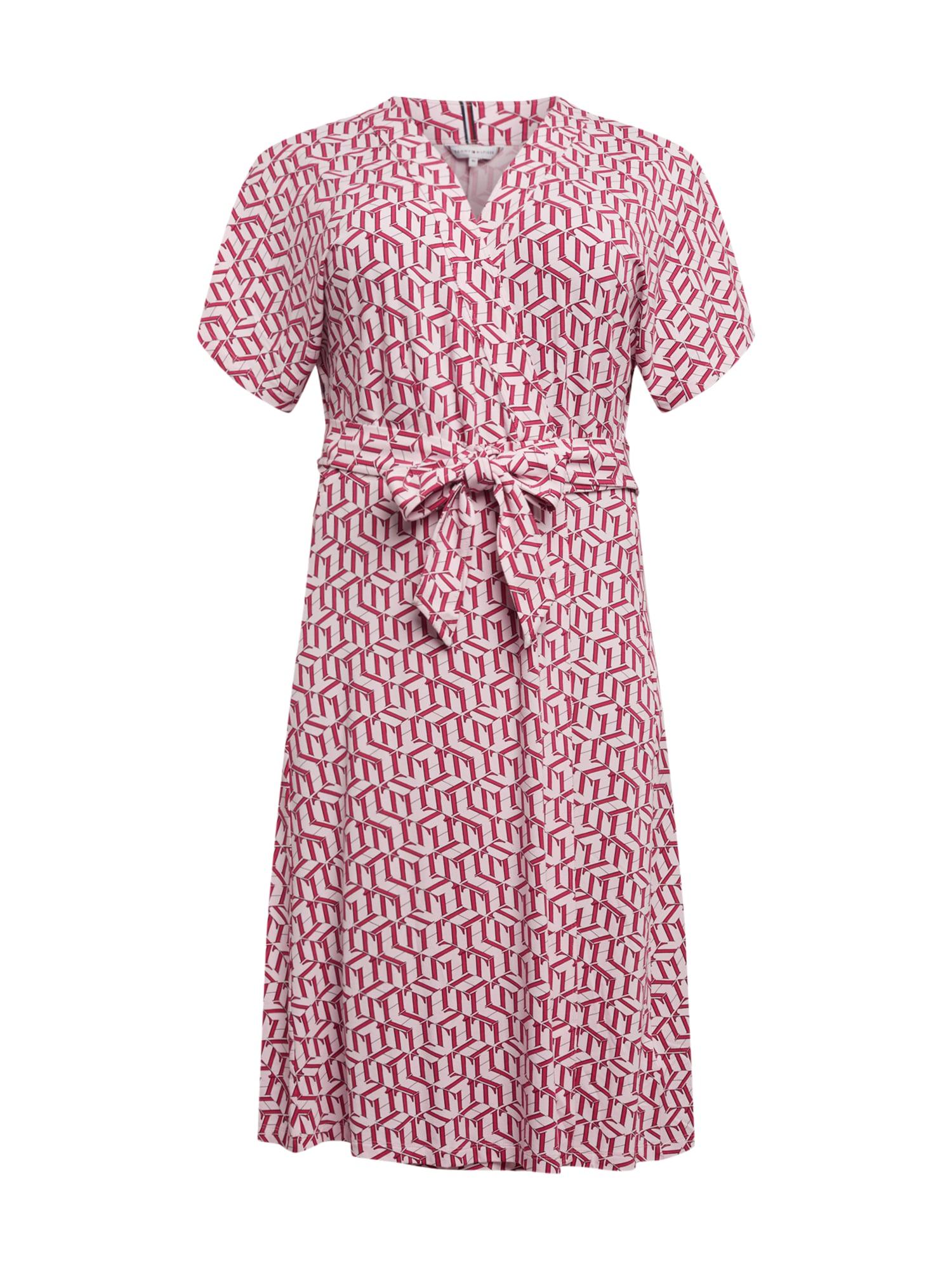 Tommy Hilfiger Curve Suknelė rožinė / balta