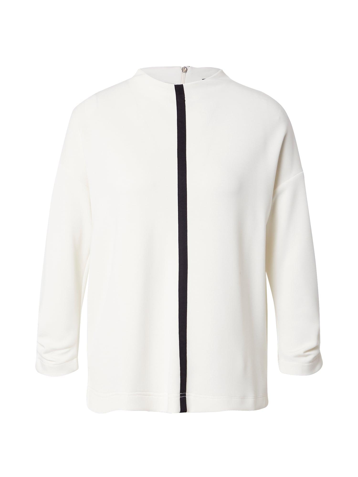 s.Oliver BLACK LABEL Marškinėliai balta / juoda