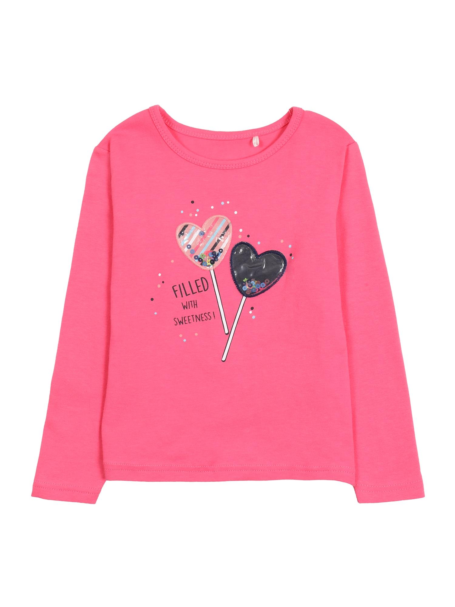 STACCATO Marškinėliai rožinė / nakties mėlyna / ryškiai rožinė spalva / balta / juoda