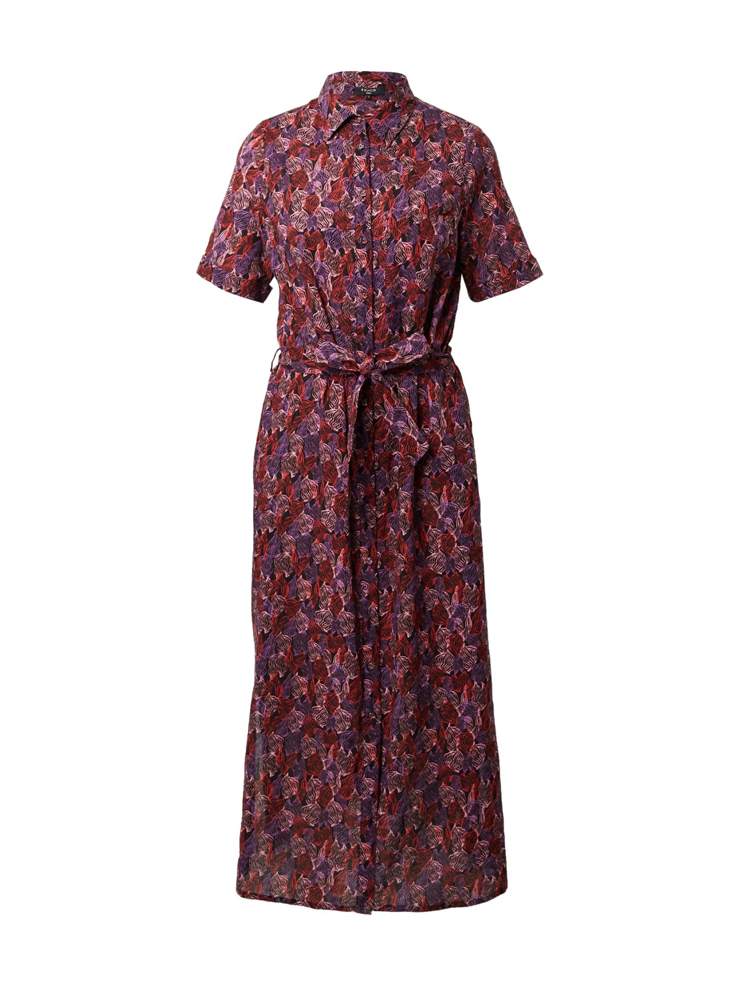 FRNCH PARIS Palaidinės tipo suknelė purpurinė / rožių spalva / raudona / juoda