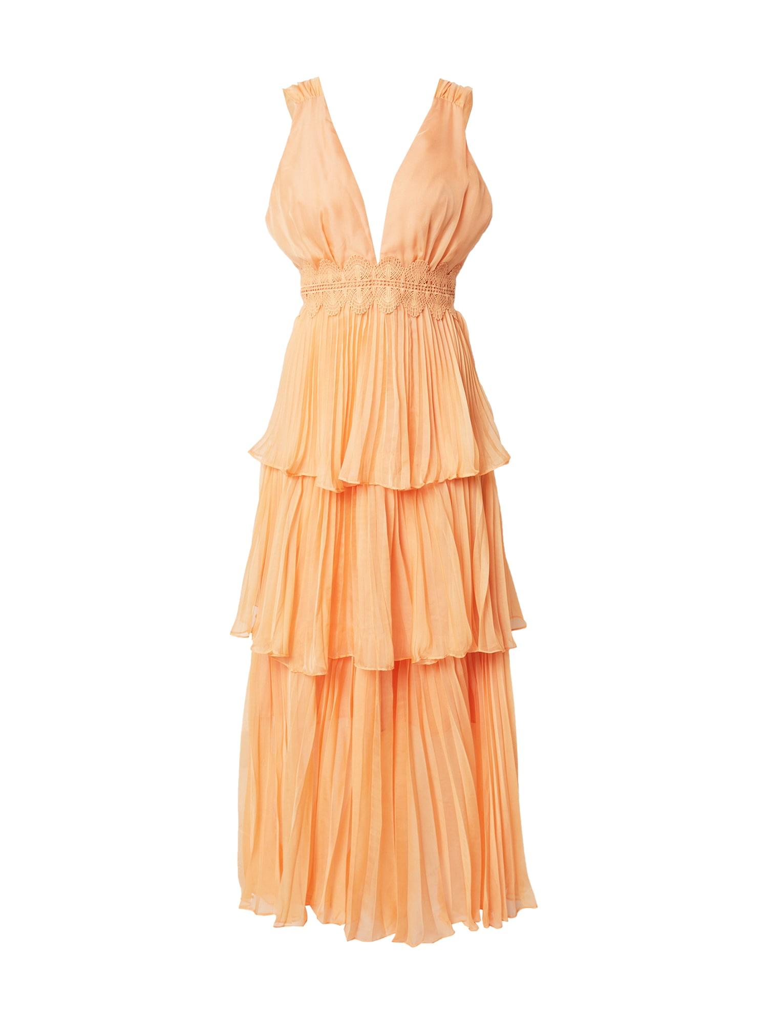 True Decadence Vakarinė suknelė šviesiai oranžinė