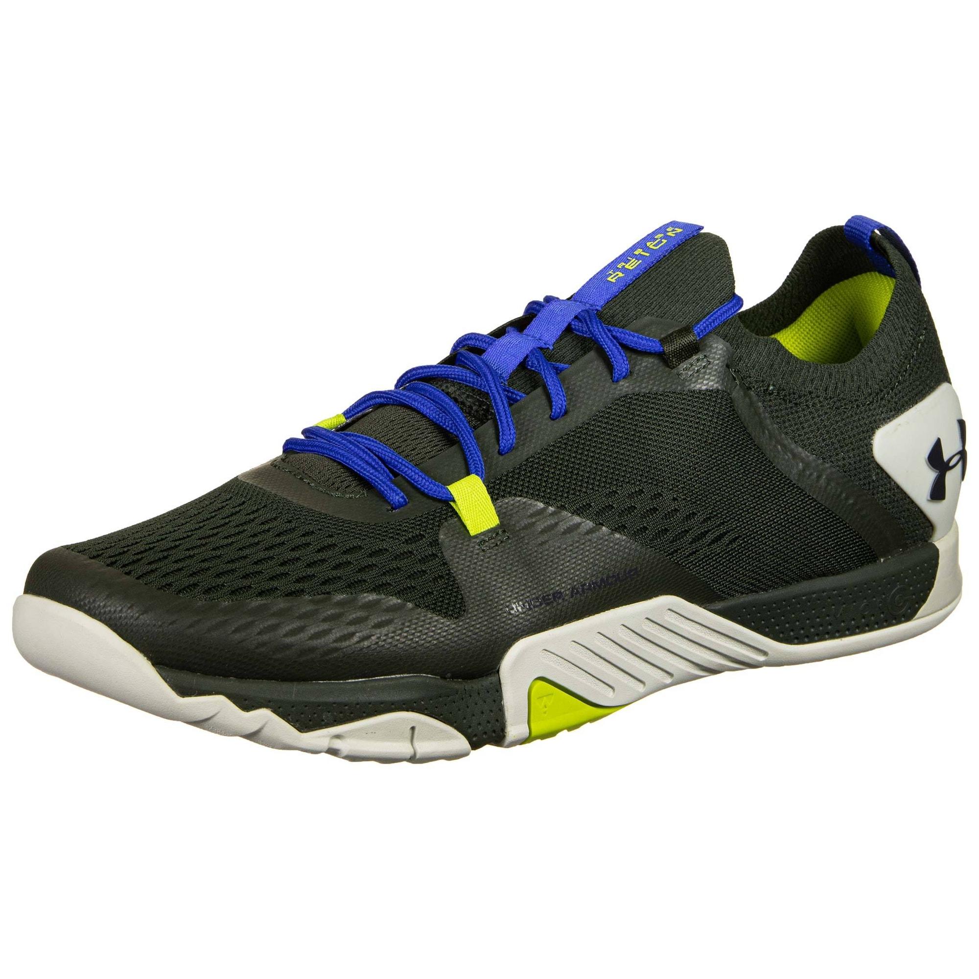 UNDER ARMOUR Sportiniai batai žaliosios citrinos spalva / mėlyna / tamsiai žalia