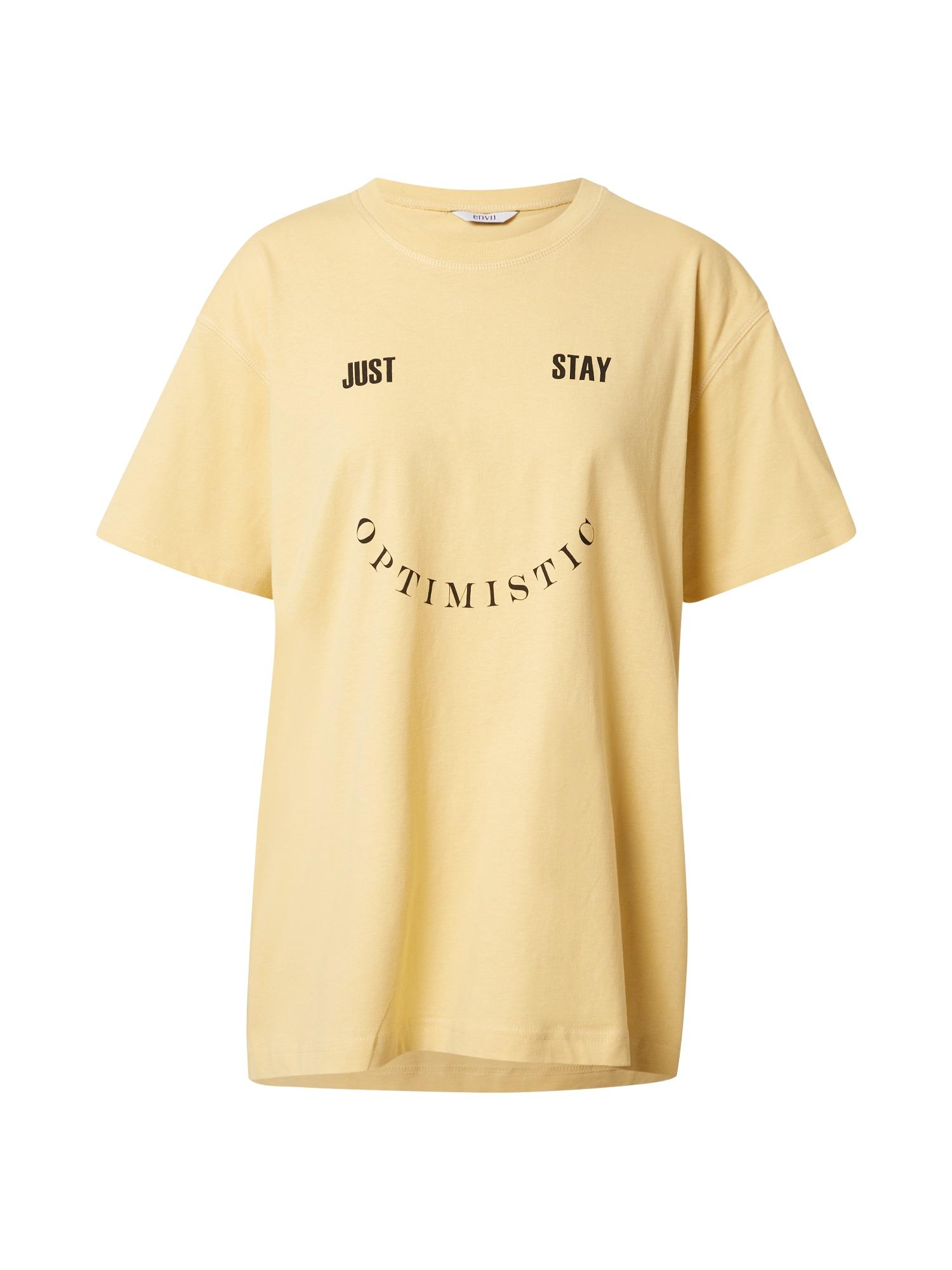 Envii Marškinėliai geltona / juoda