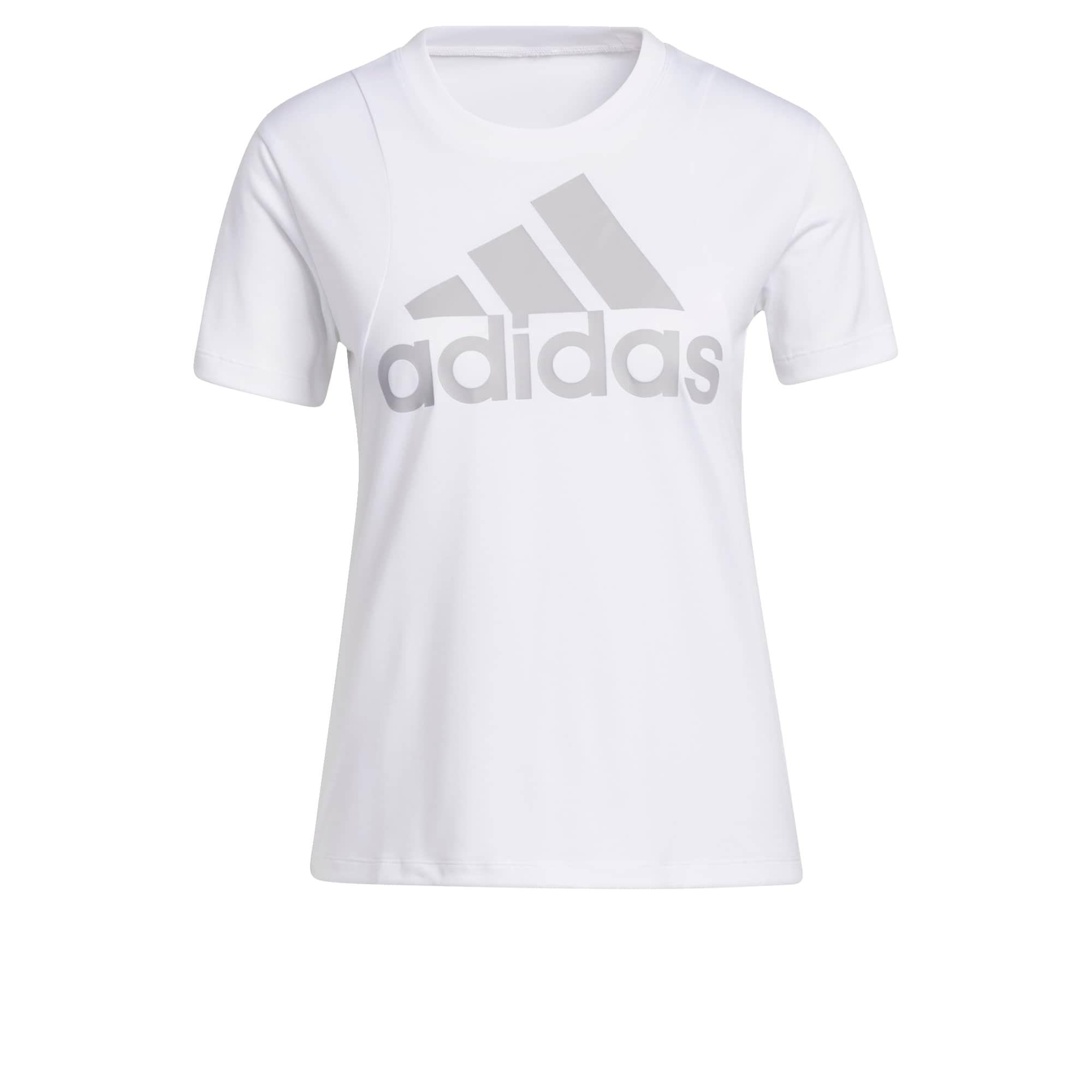 ADIDAS PERFORMANCE Sportiniai marškinėliai balta / pilka