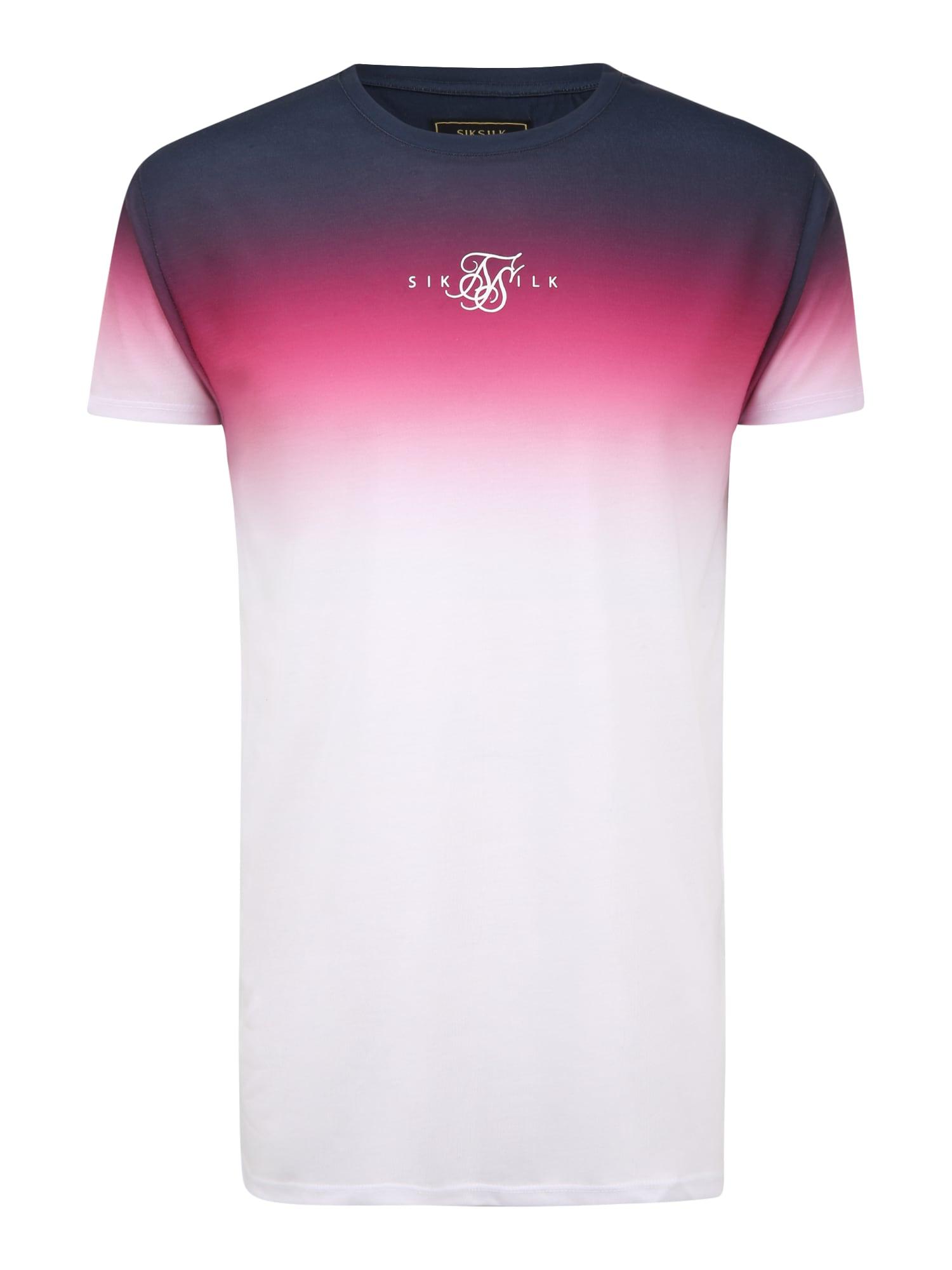 SikSilk Marškinėliai balta / rožinė / nakties mėlyna