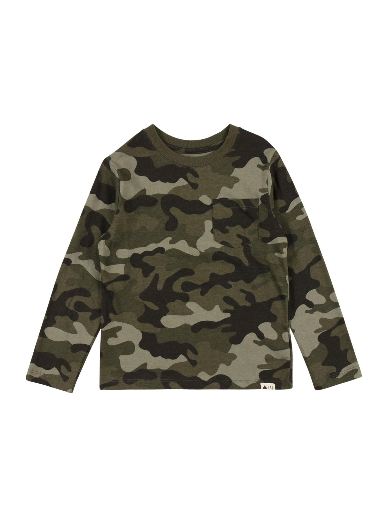 GAP Megztinis be užsegimo pilka / rusvai žalia / alyvuogių spalva / tamsiai žalia
