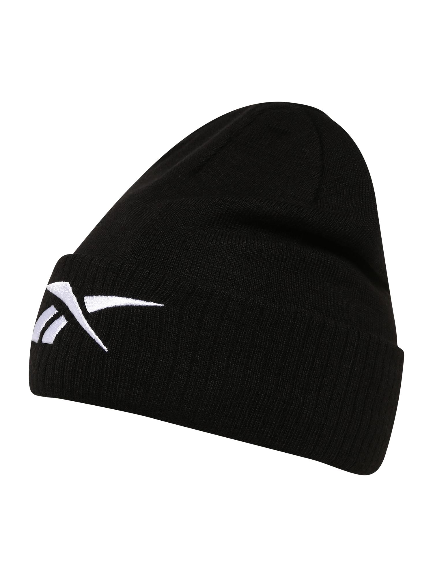 REEBOK Sportinė kepurė balta / juoda