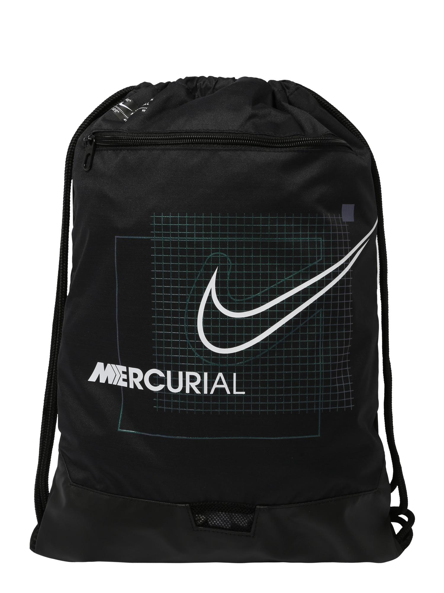 NIKE Sportinis krepšys-maišas juoda / balta