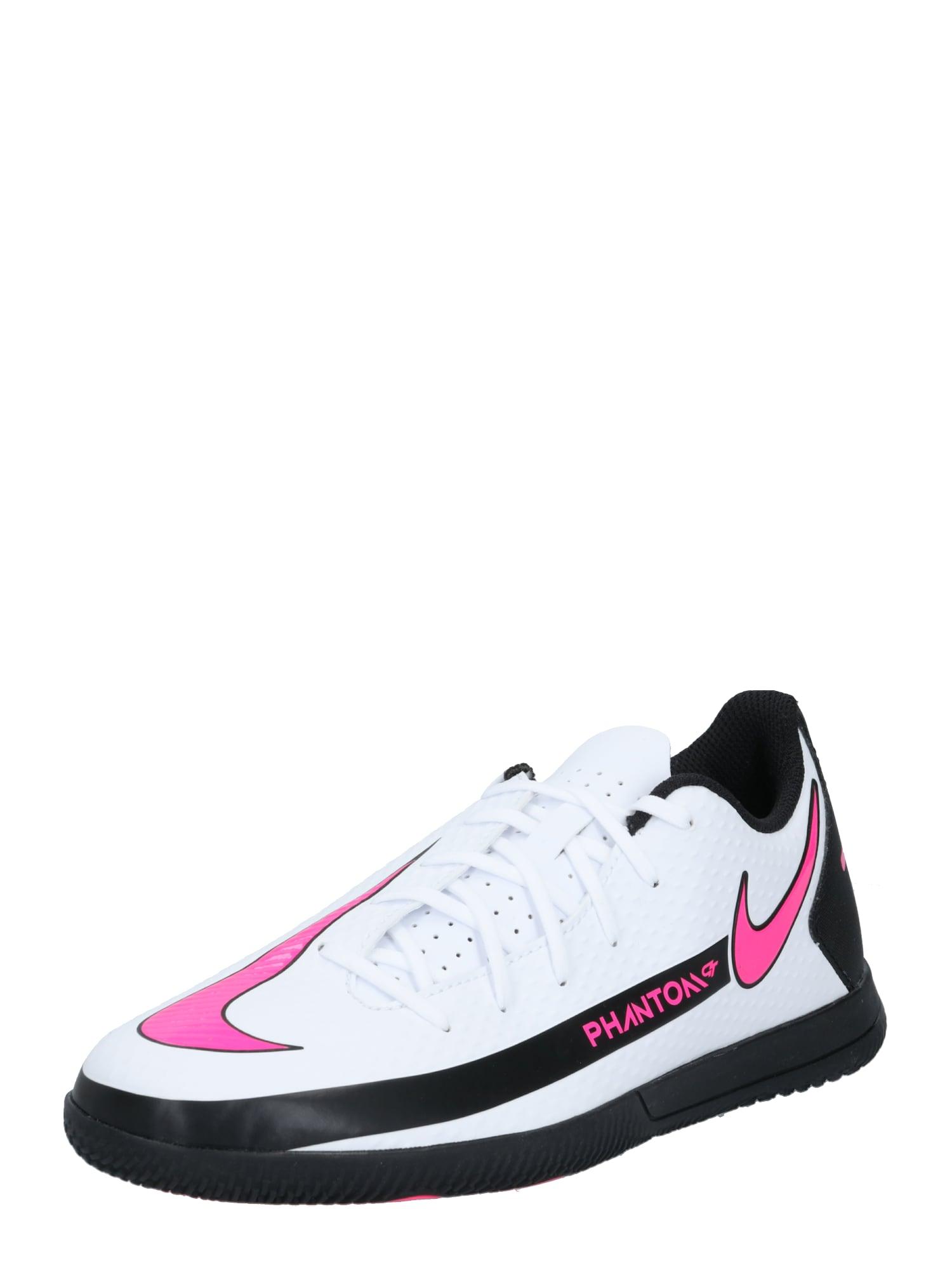 NIKE Sportovní boty 'Phantom'  černá / bílá / pink