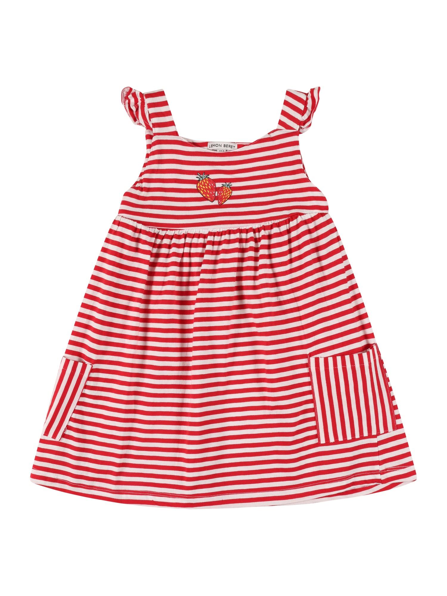 LEMON BERET Suknelė raudona / balta / šviesiai žalia / geltona