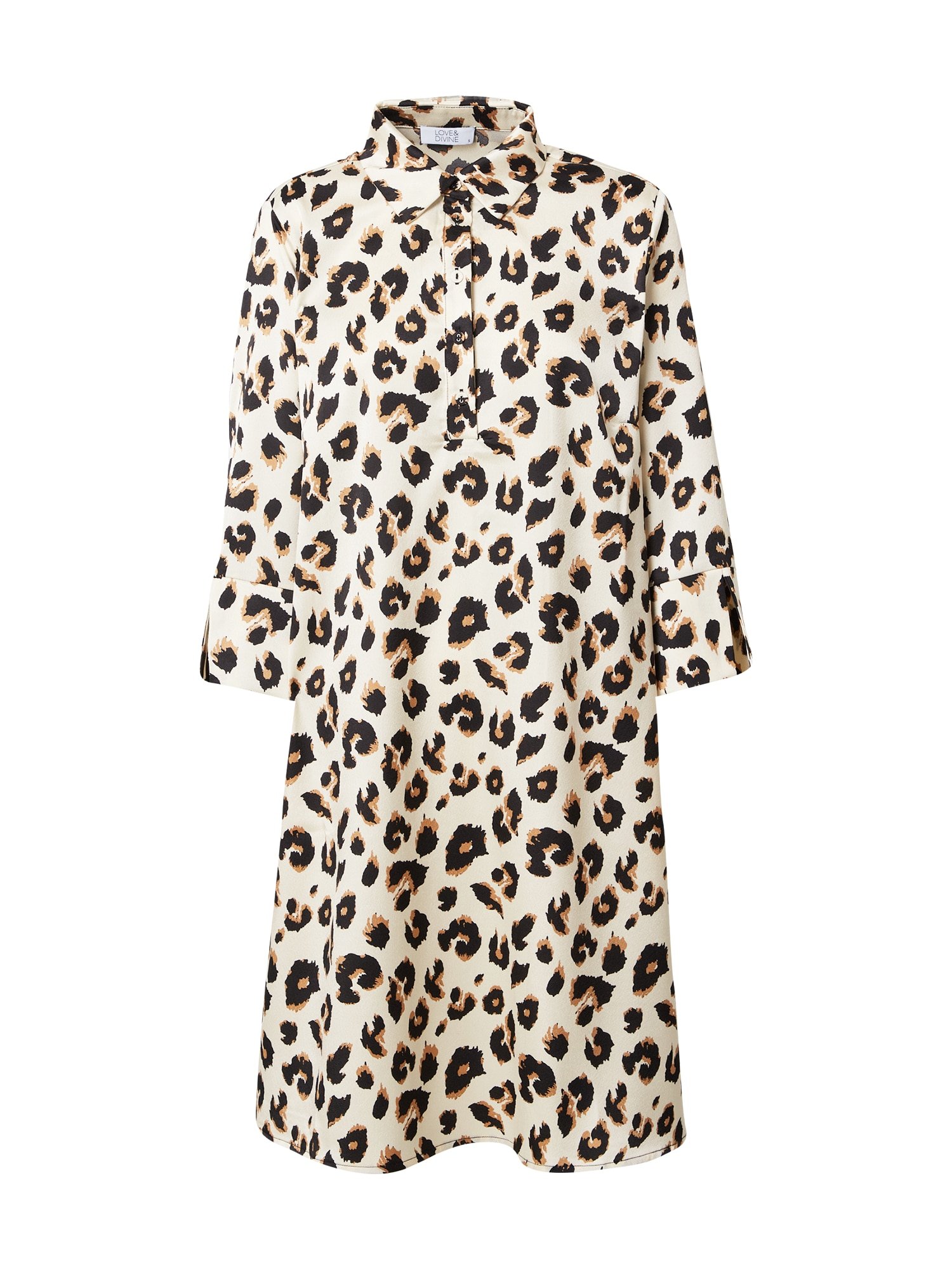 Love & Divine Palaidinės tipo suknelė kremo / gelsvai pilka spalva / juoda