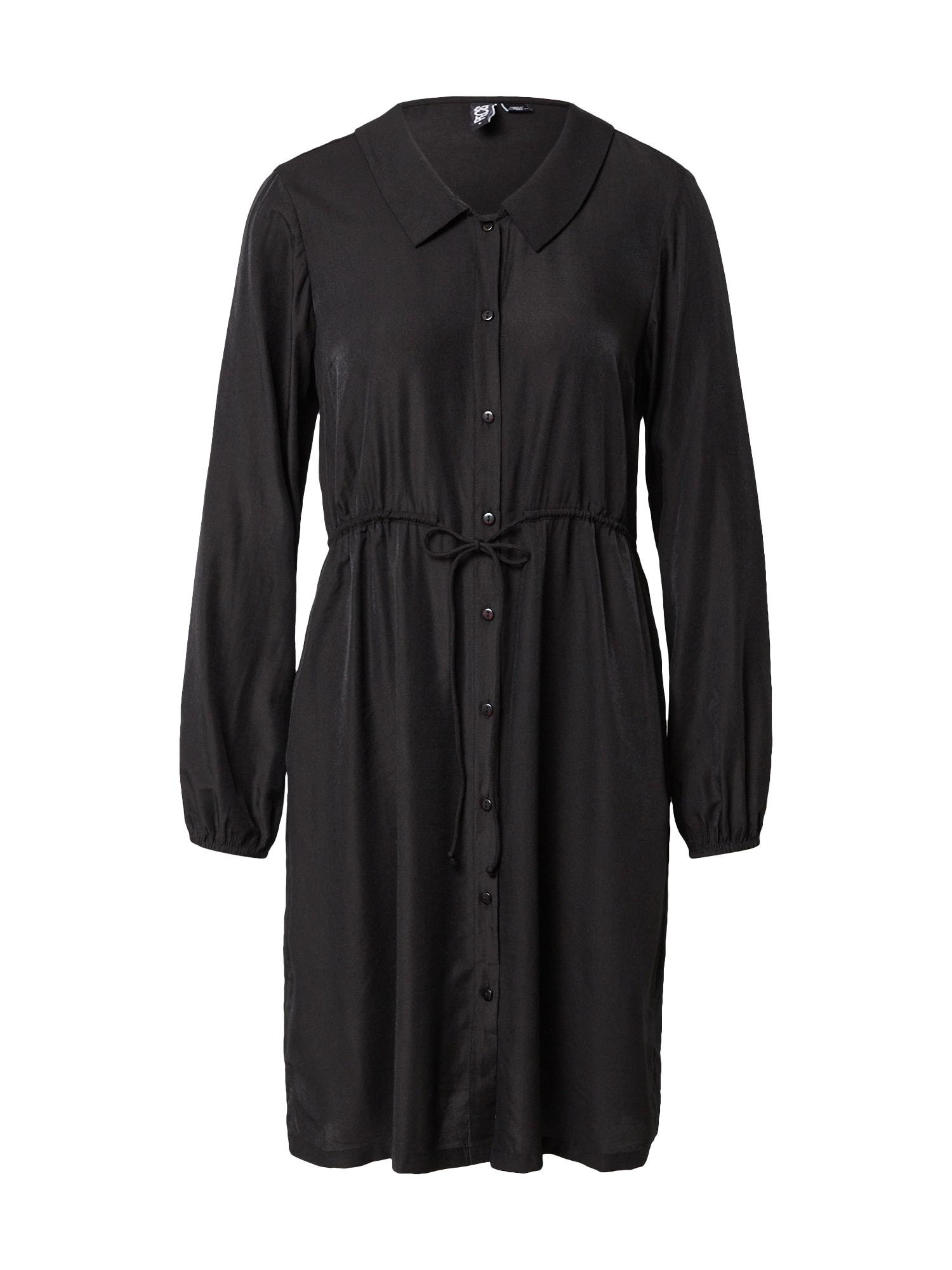PIECES Košilové šaty 'FRAYSON'  černá
