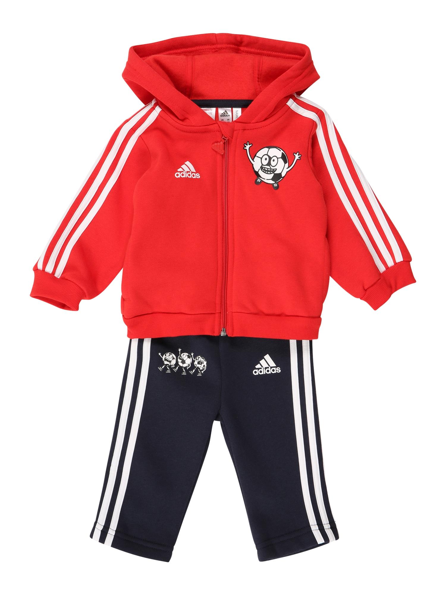 ADIDAS PERFORMANCE Sportinis kostiumas raudona / balta / nakties mėlyna