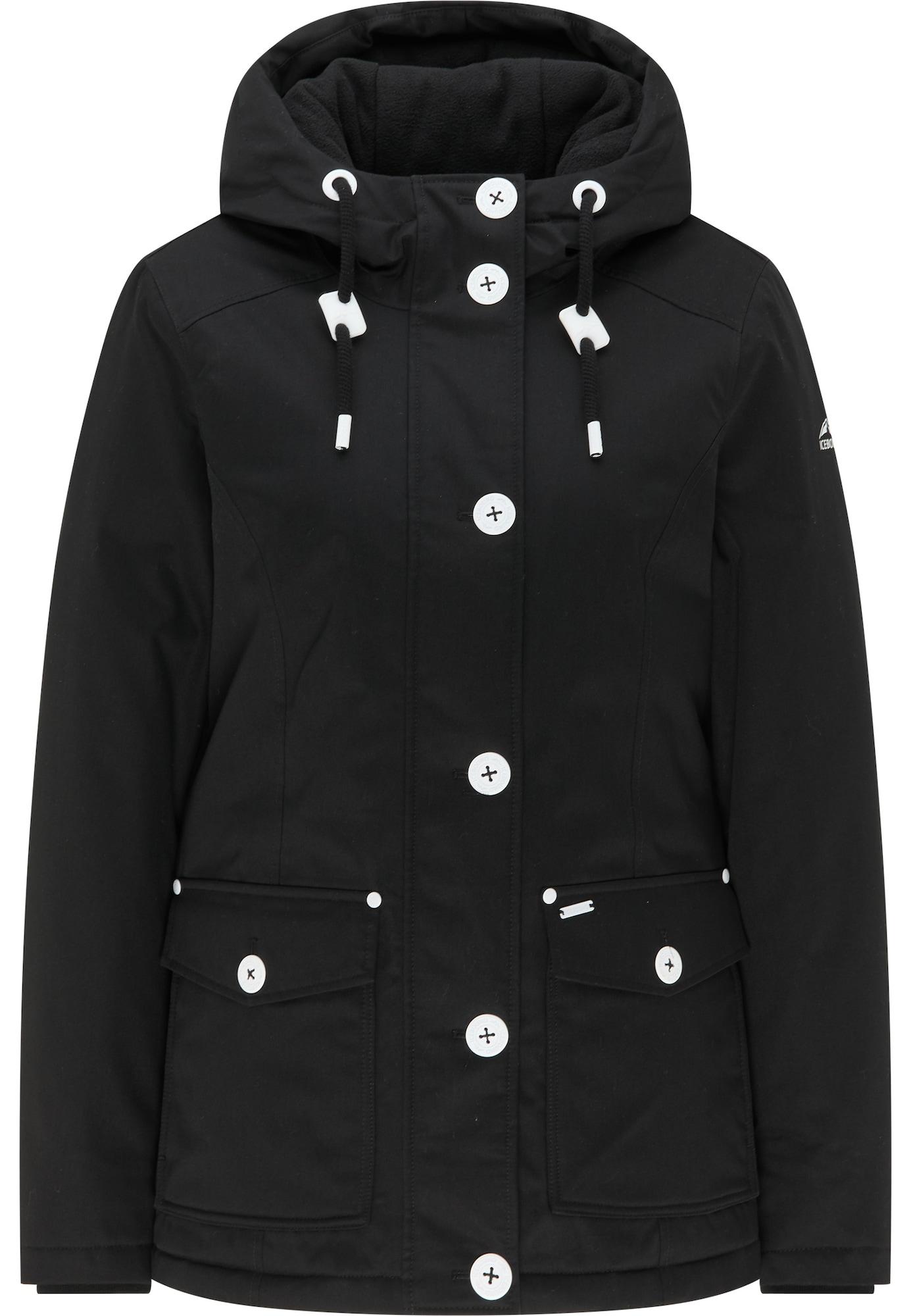ICEBOUND Žieminė striukė juoda / balta