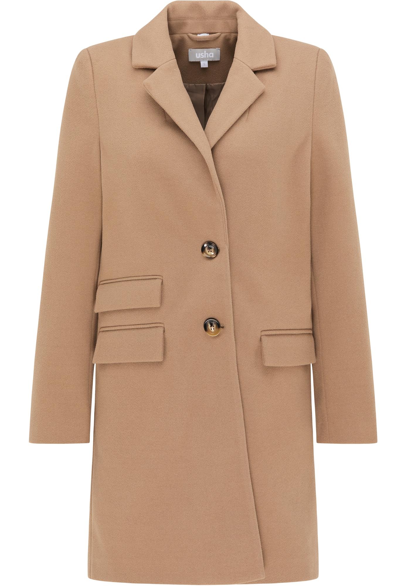 - CONTRAER - Demisezoninis paltas šviesiai ruda