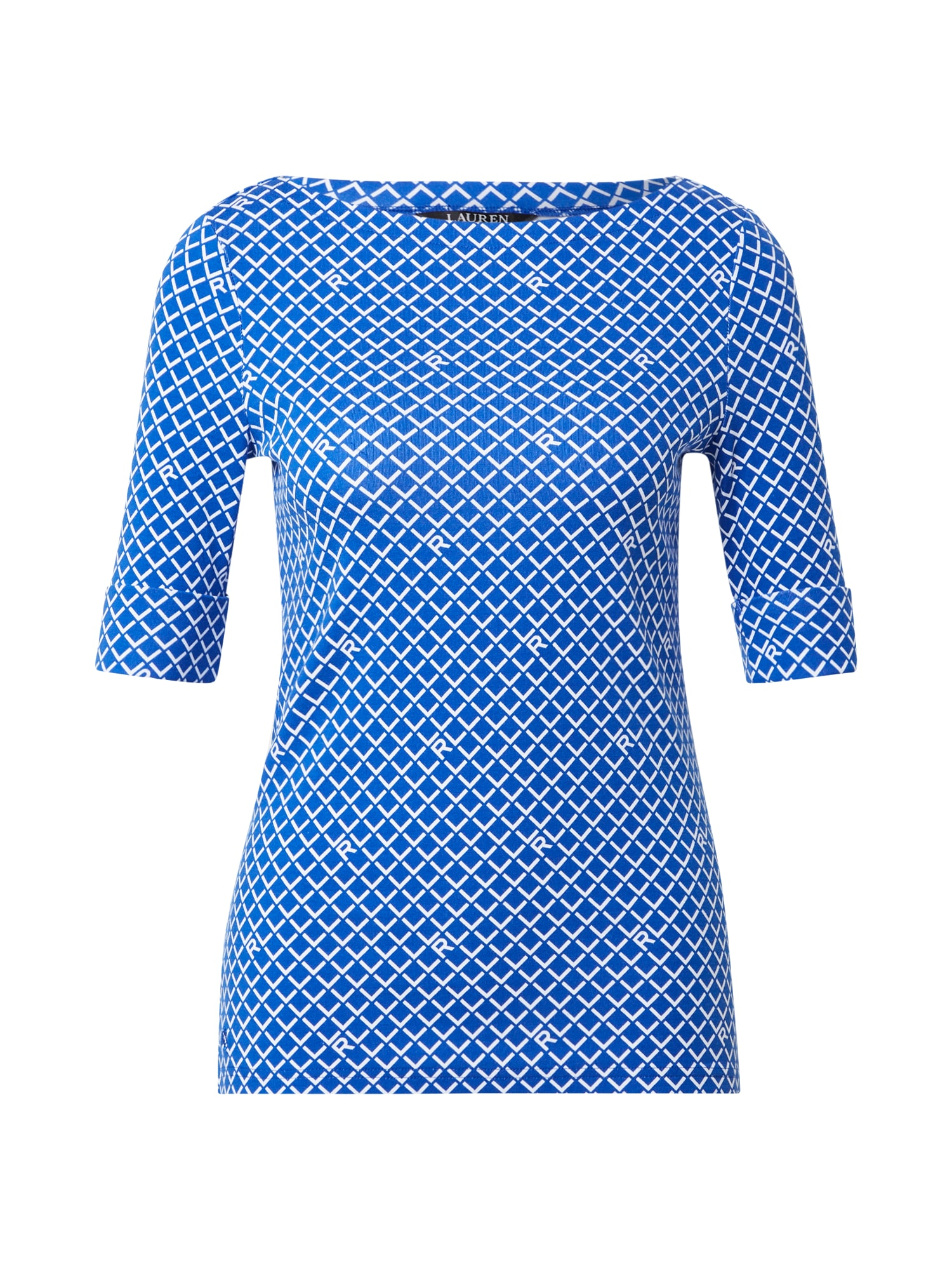 Lauren Ralph Lauren Tričko 'Judy'  modrá / bílá