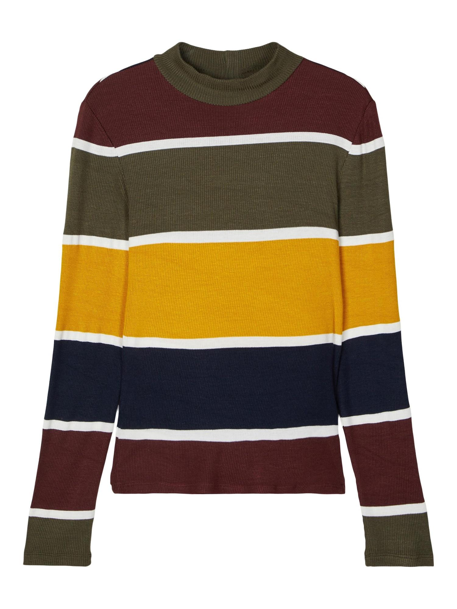 LMTD Marškinėliai geltona / vyšninė spalva / tamsiai mėlyna / rusvai žalia / balta