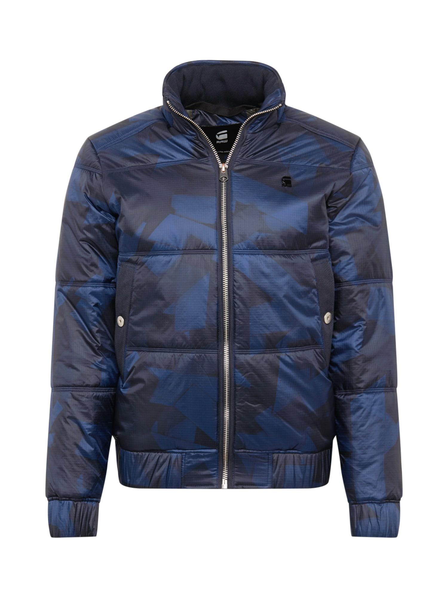 G-Star RAW Přechodná bunda  marine modrá / noční modrá