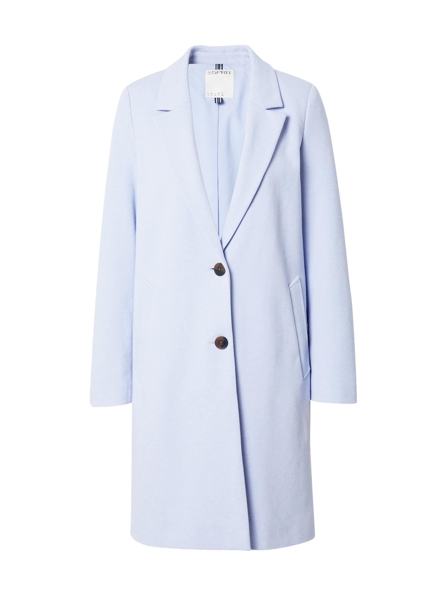 ESPRIT Demisezoninis paltas pastelinė mėlyna