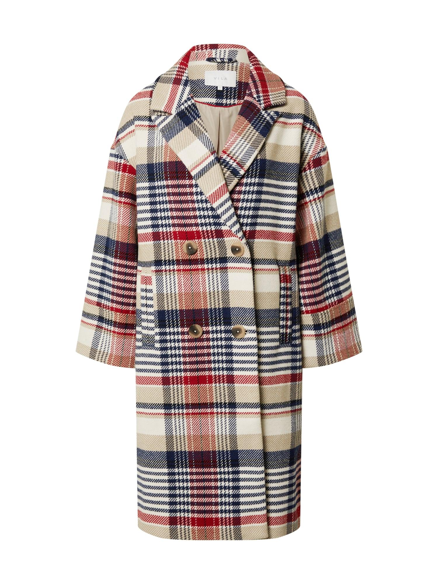 VILA Přechodný kabát 'Kenda'  bílá / modrá / červená