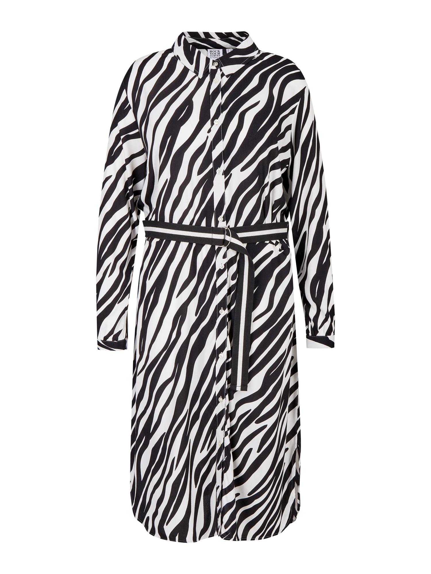 Rock Your Curves by Angelina K. Palaidinės tipo suknelė balta / juoda