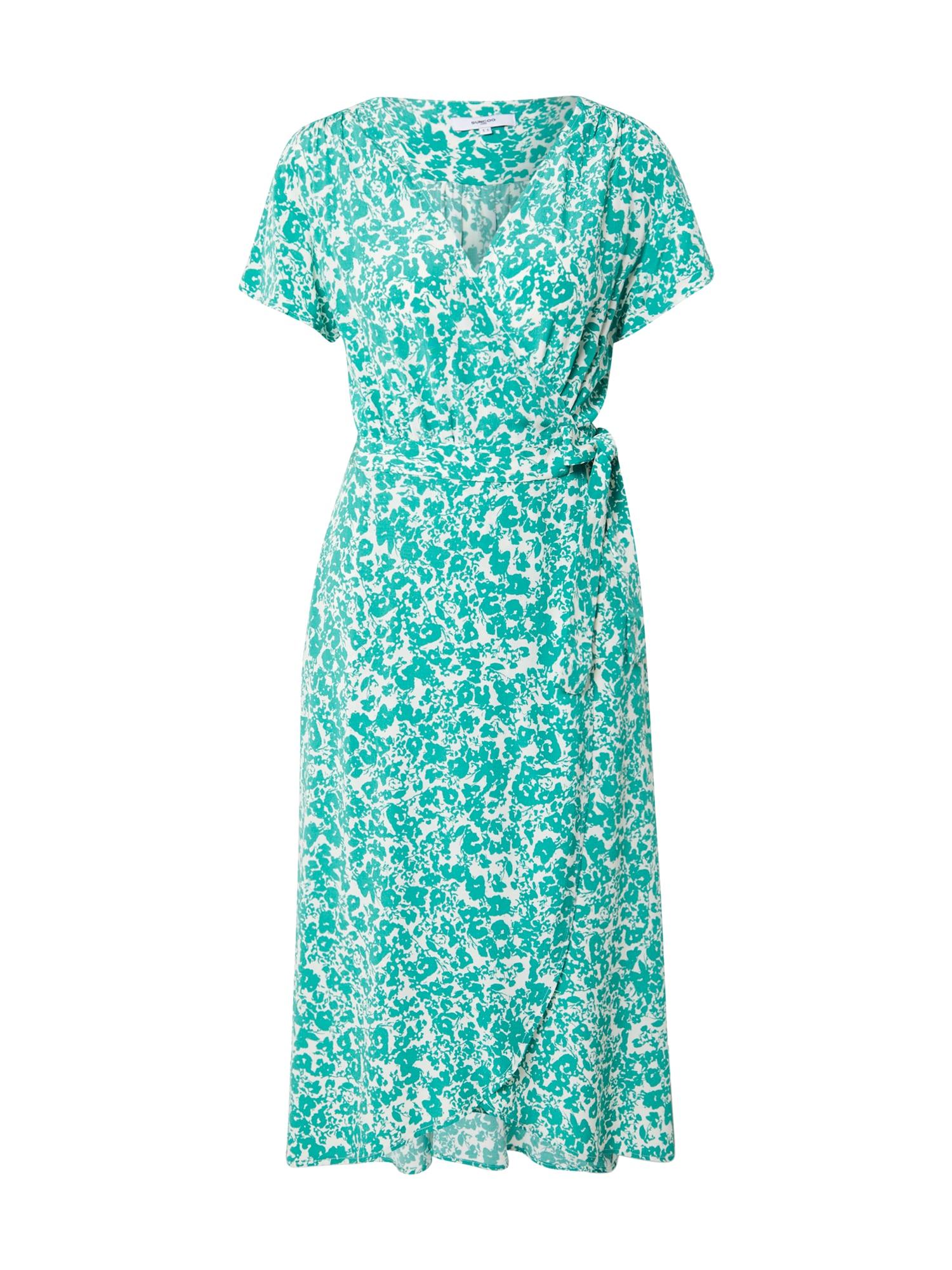 Suncoo Vasarinė suknelė žalia / balta