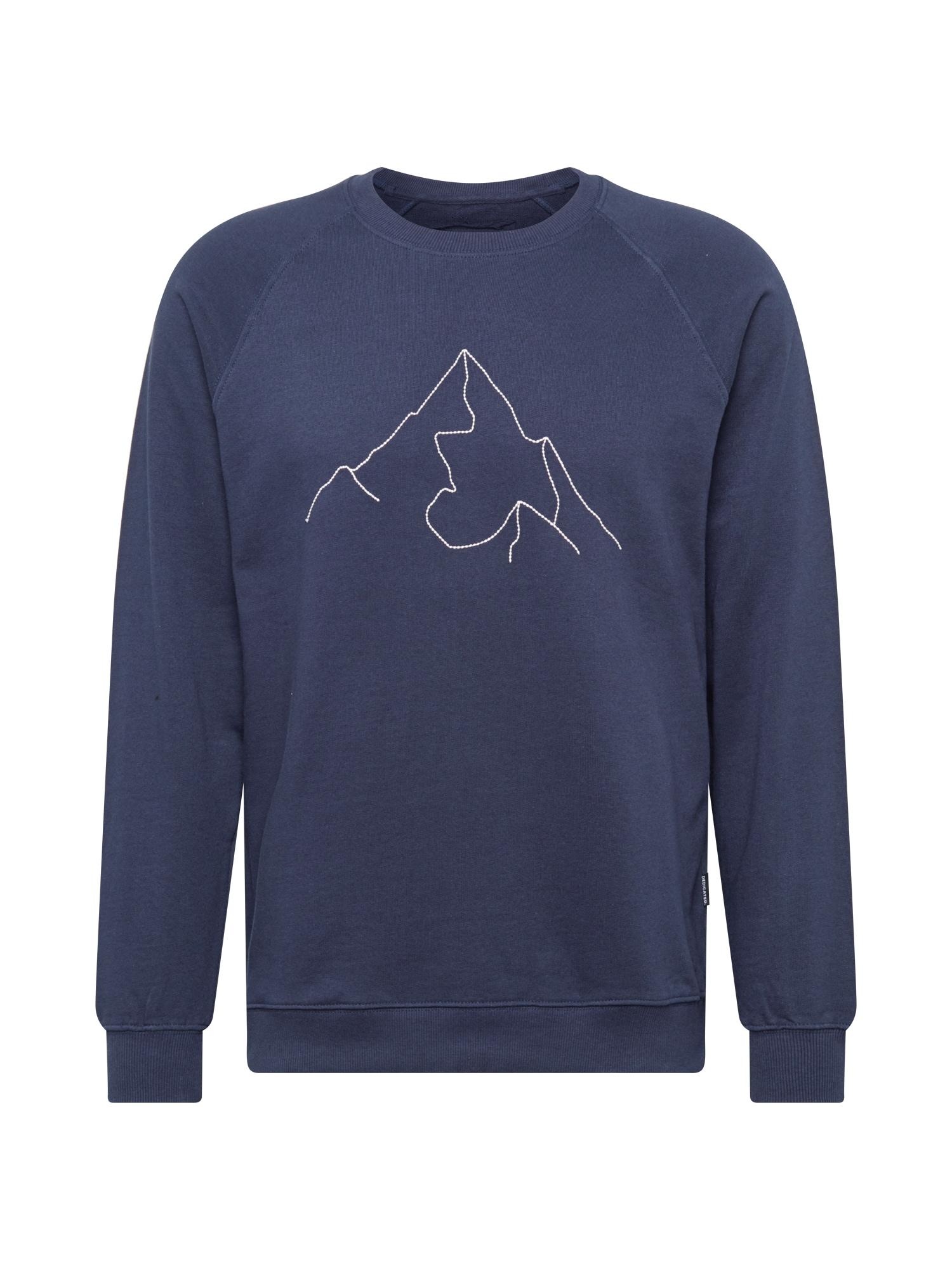 DEDICATED. Megztinis be užsegimo tamsiai mėlyna / balta