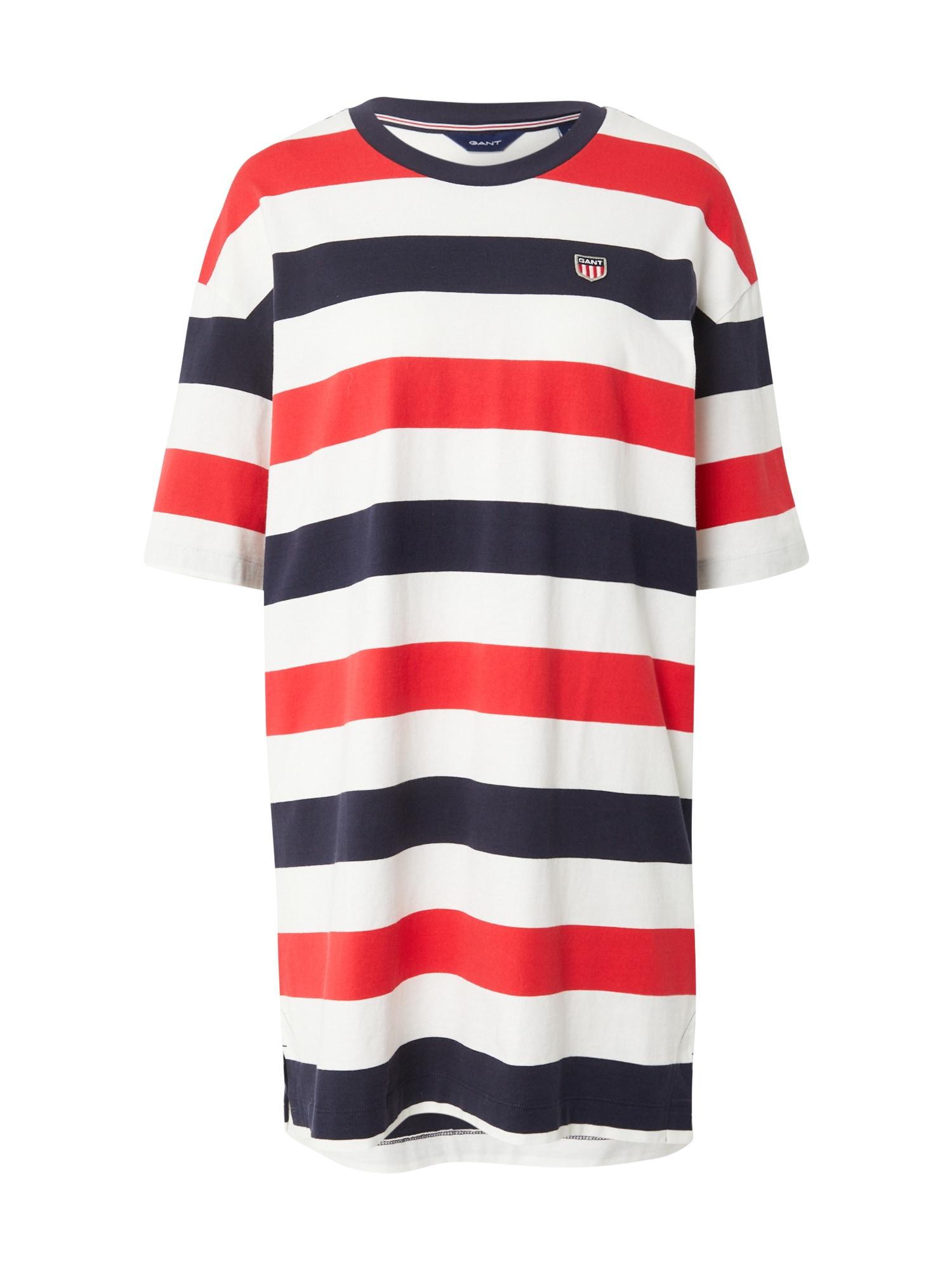 GANT Šaty  červená / bílá / marine modrá