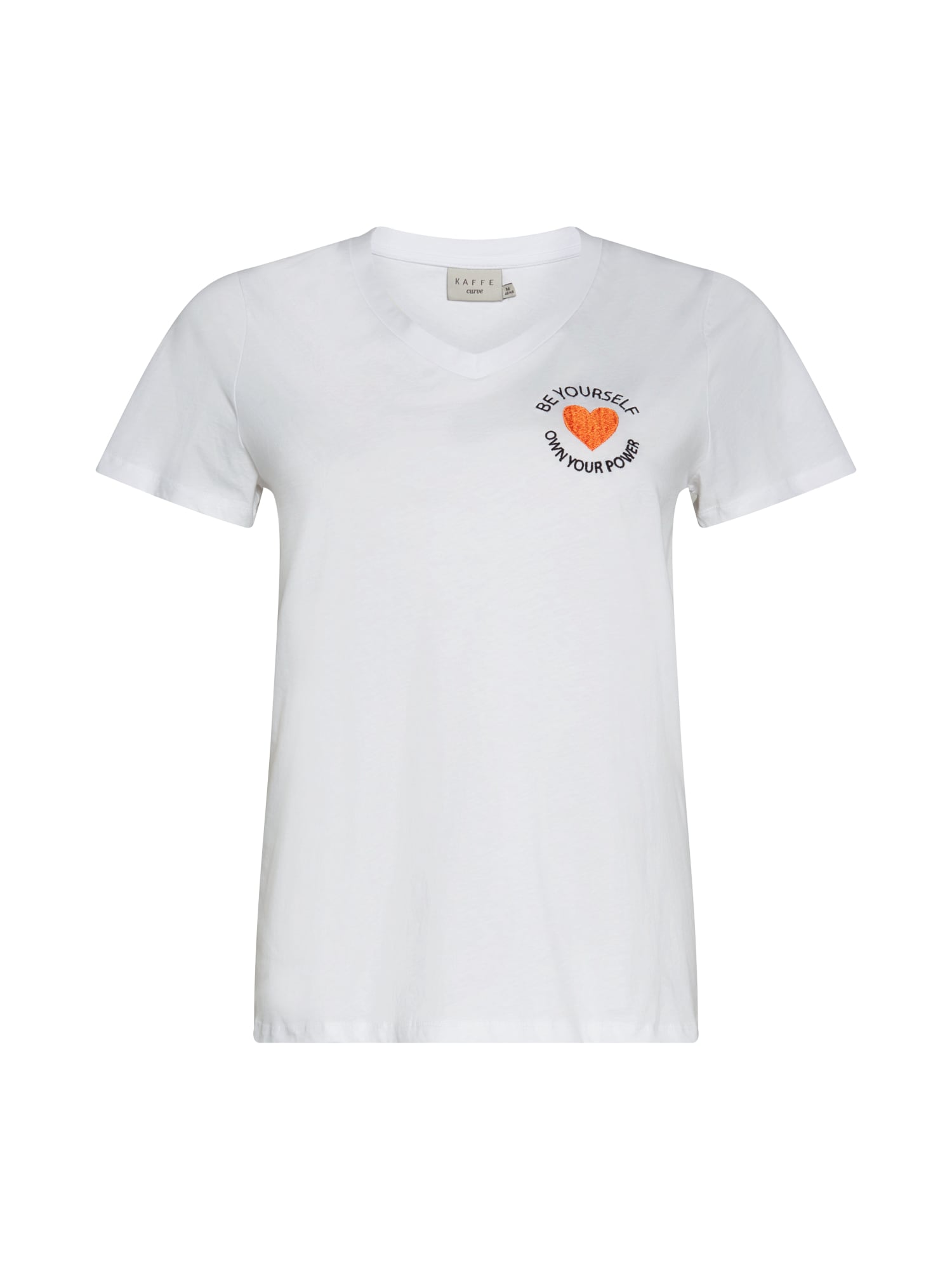 KAFFE CURVE Marškinėliai