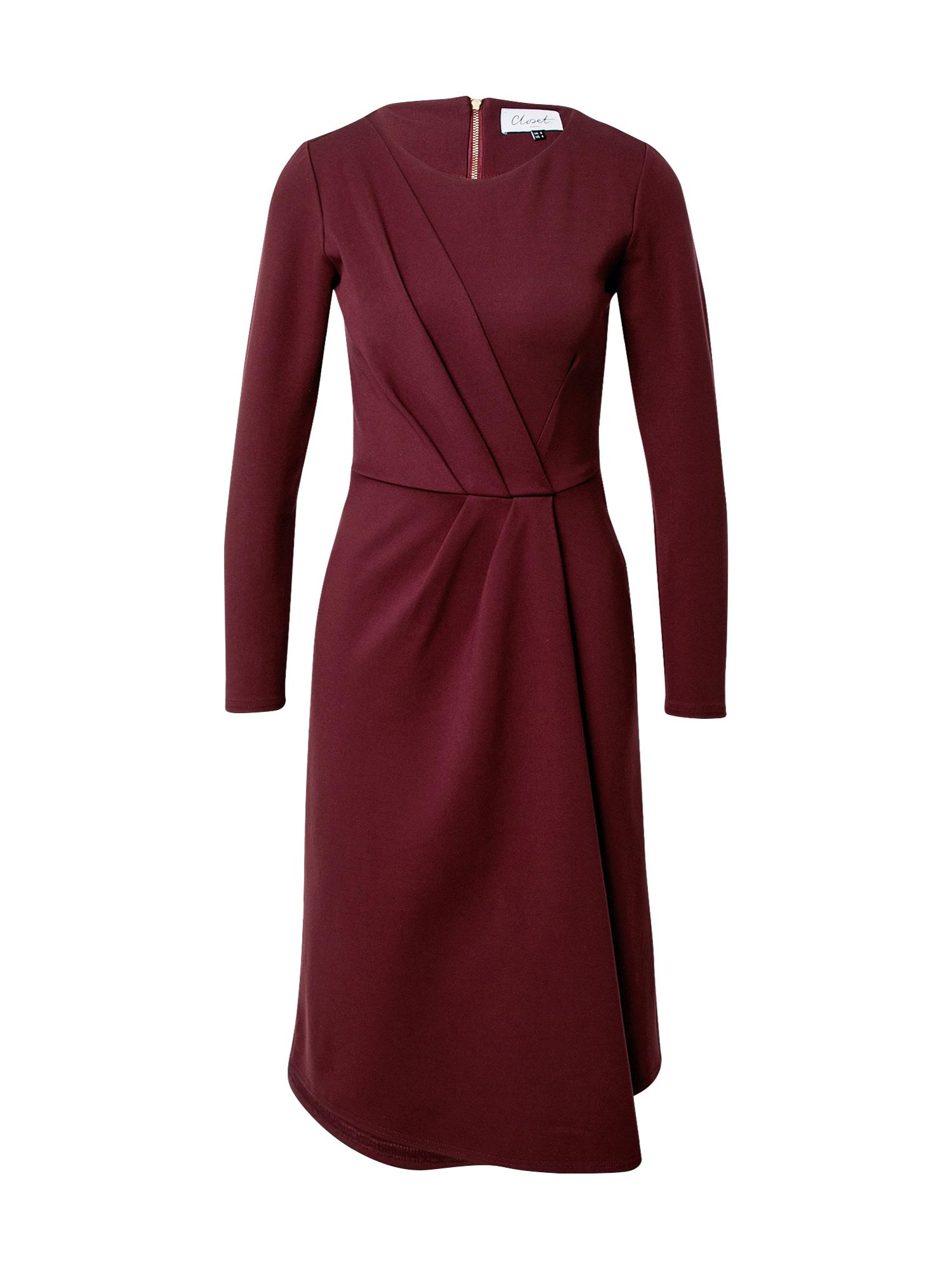 Closet London Suknelė burgundiško vyno spalva