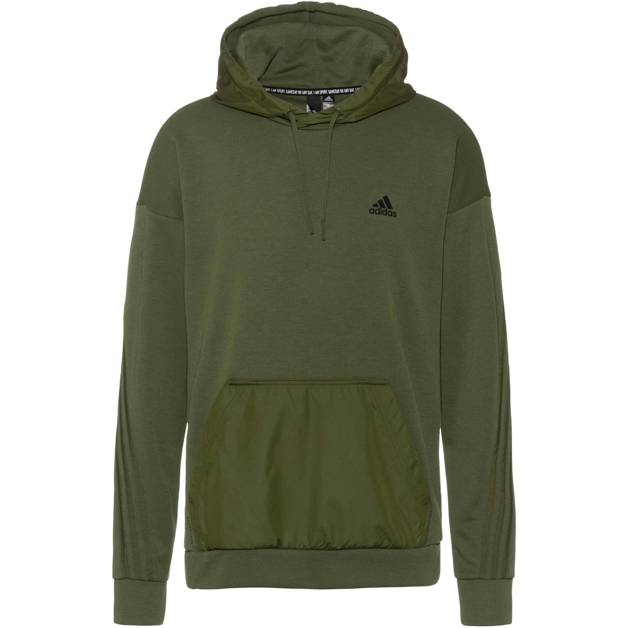 ADIDAS PERFORMANCE Sportinio tipo megztinis geltona / rusvai žalia