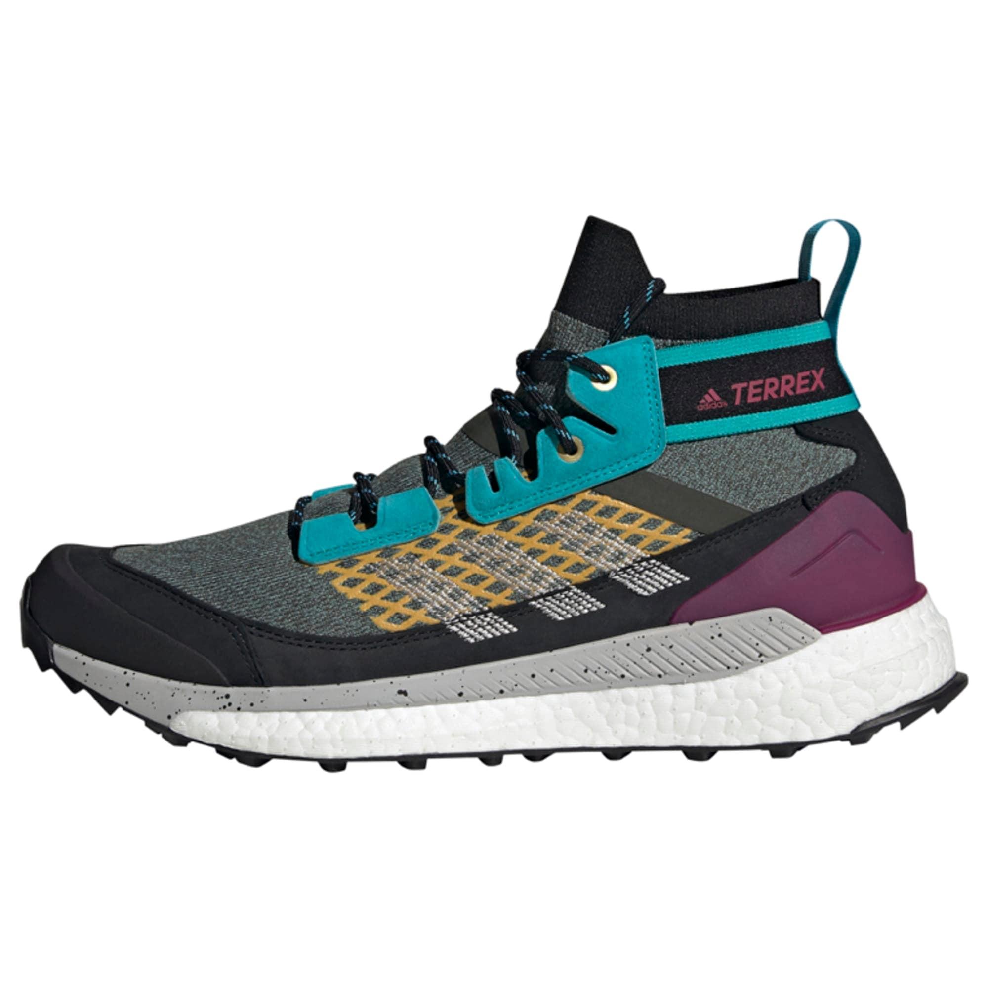 ADIDAS PERFORMANCE Auliniai batai žalia / margai pilka / turkio spalva / purpurinė