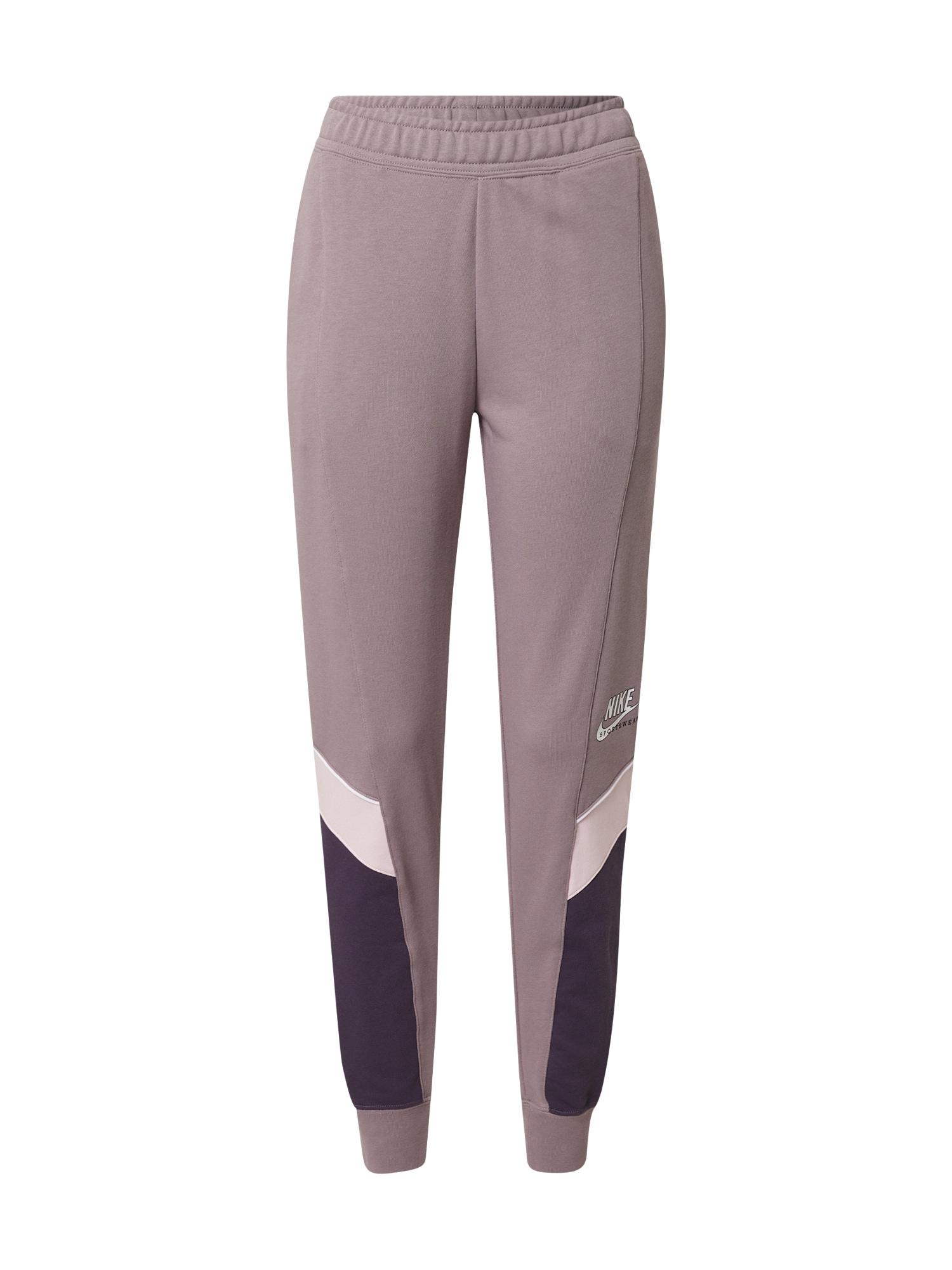 Nike Sportswear Kelnės balta / tamsiai violetinė / alyvinė spalva