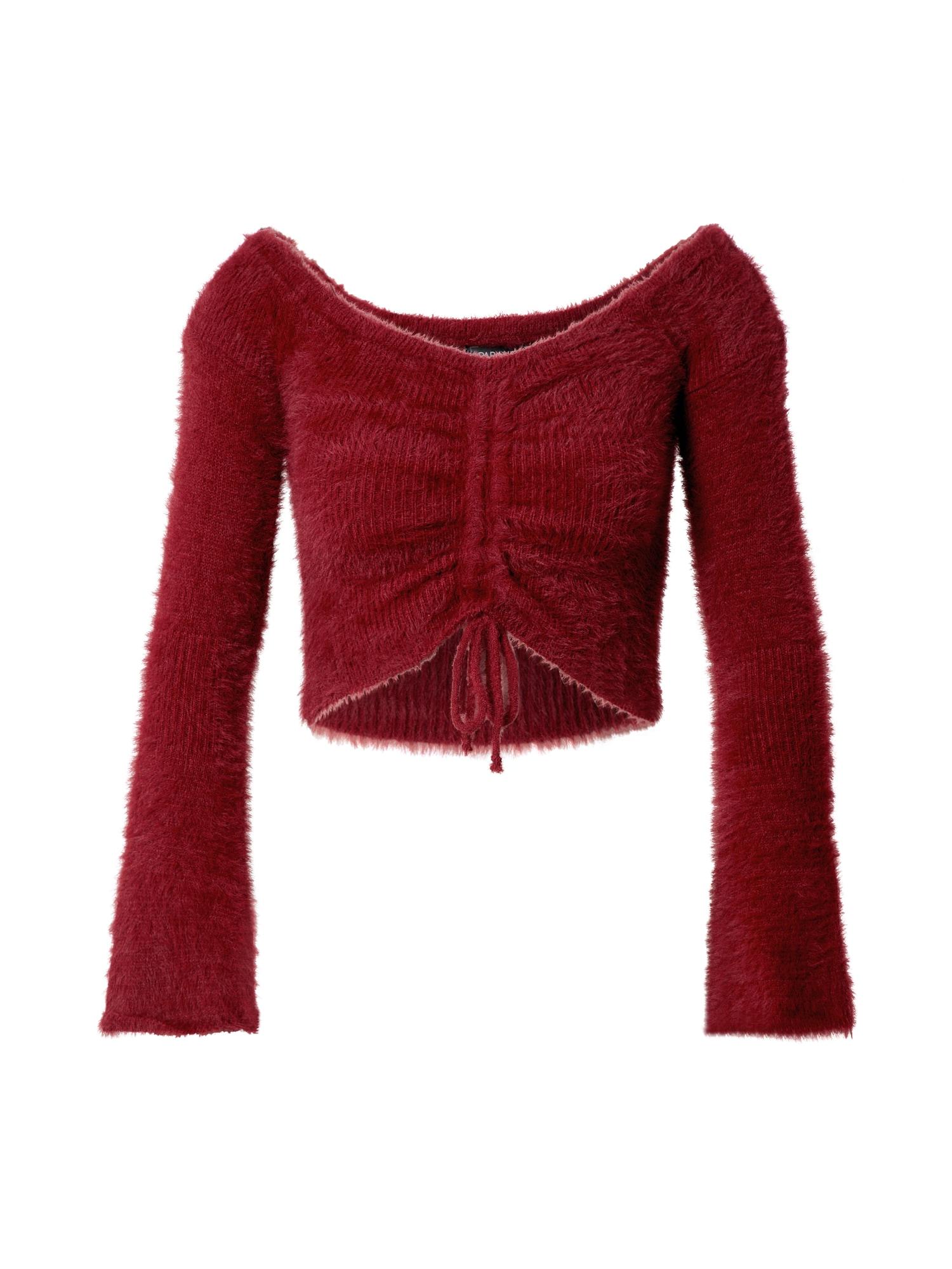 Parallel Lines Megztinis raudona