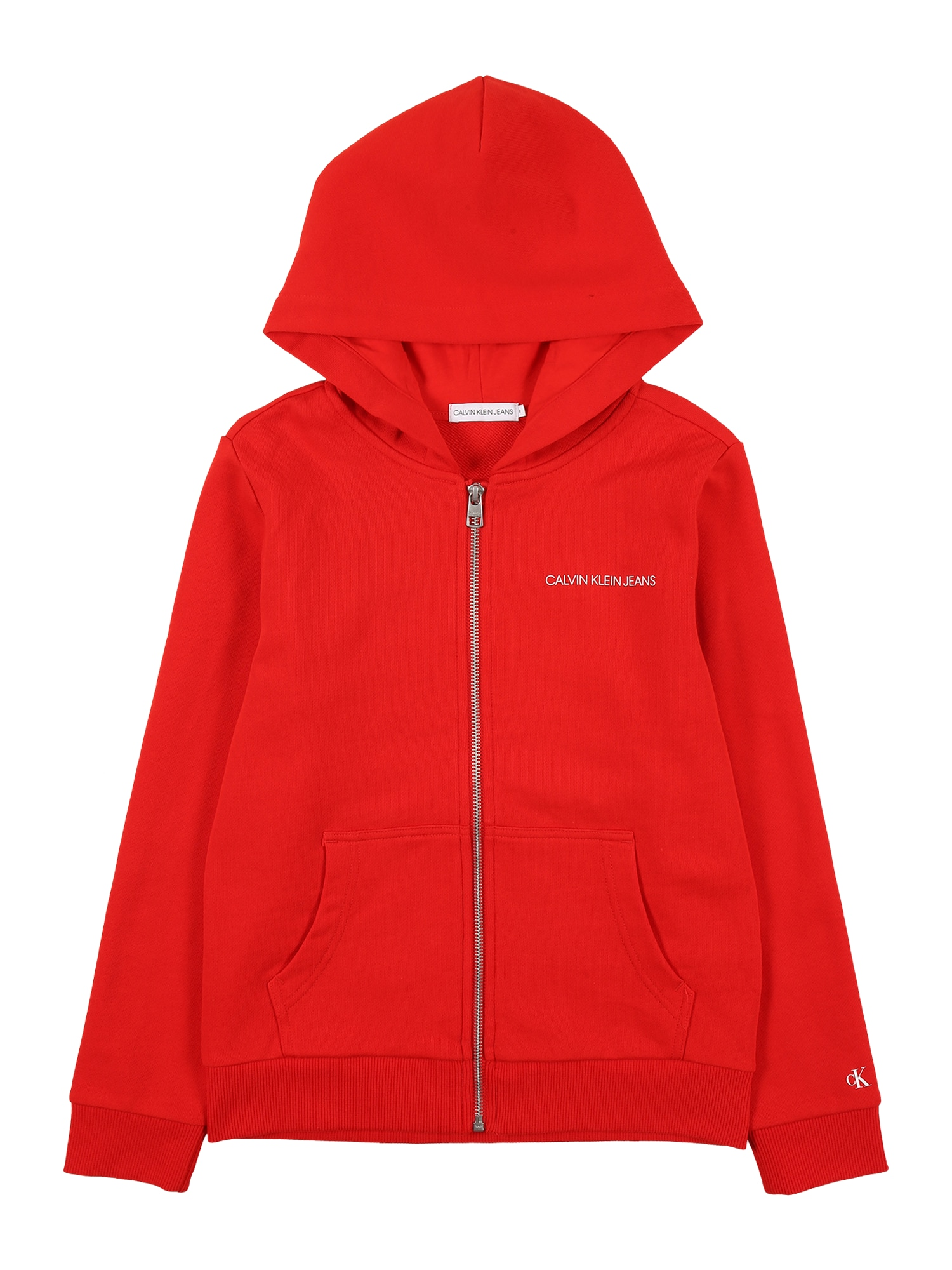 Calvin Klein Jeans Megztinis be užsegimo raudona / juoda / balta