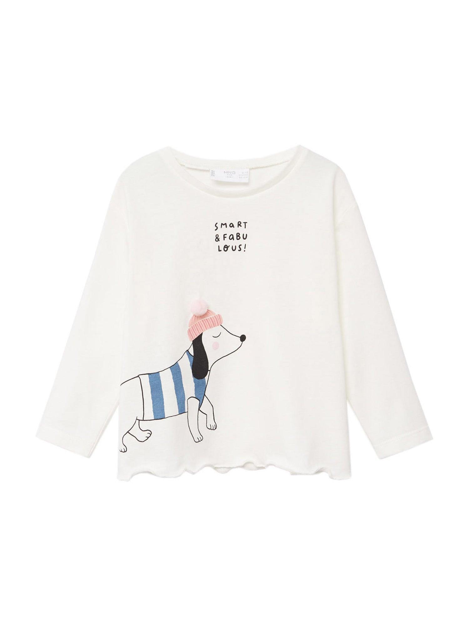 MANGO KIDS Tričko  krémová / růžová / světlemodrá