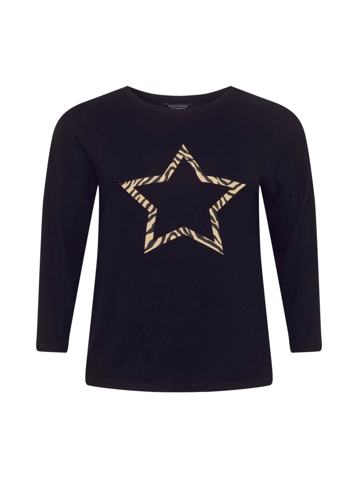 Dorothy Perkins Curve Megztinis juoda / smėlio spalva