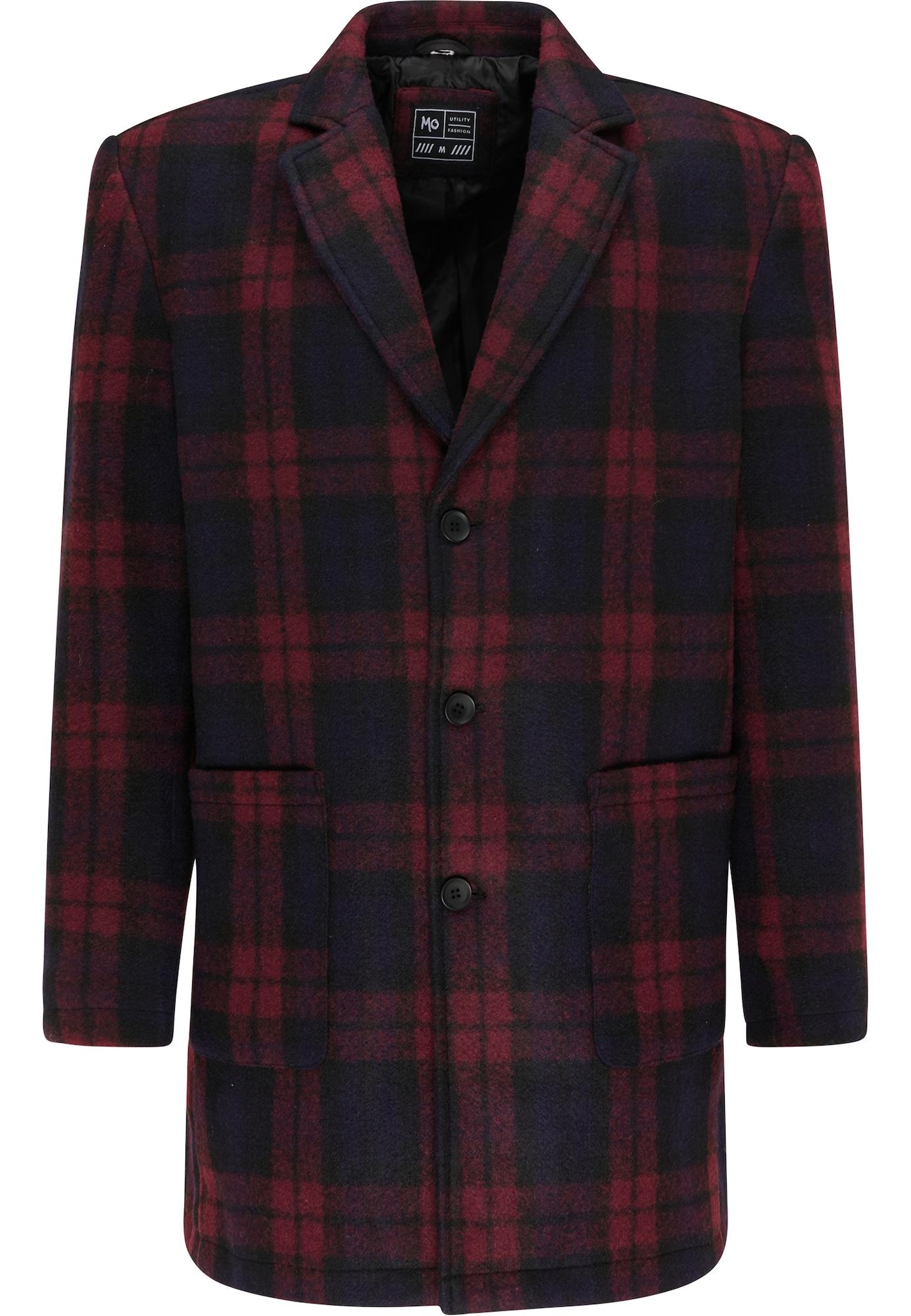 MO Demisezoninis paltas tamsiai mėlyna jūros spalva / tamsiai raudona