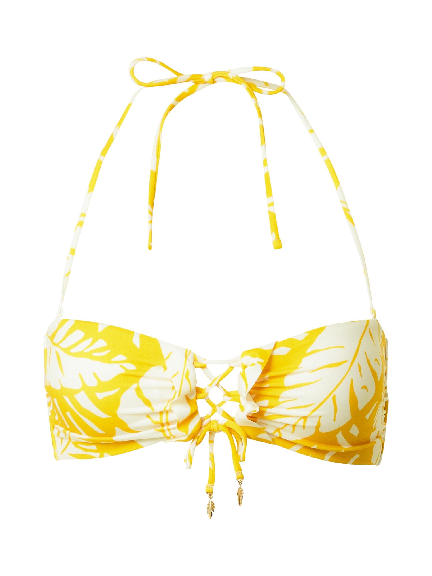 watercult Bikinio viršutinė dalis balta / geltona